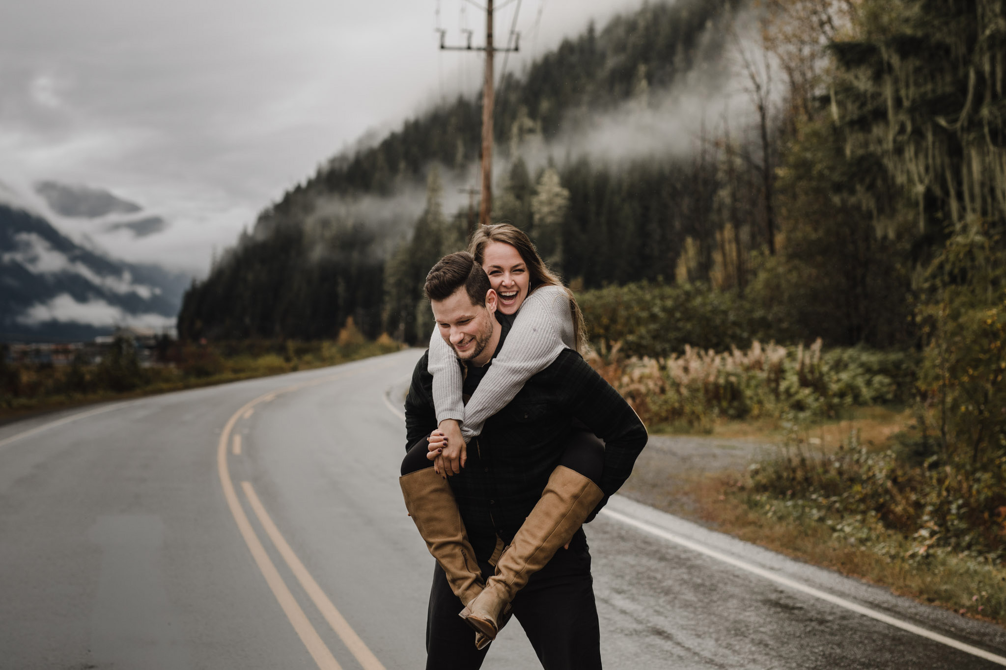 Engagement In the Mountains - goofing around
