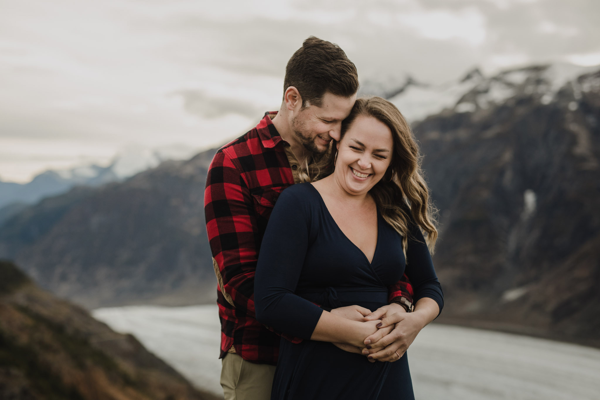 BC Mountain Top Engagement Photographer - giggles
