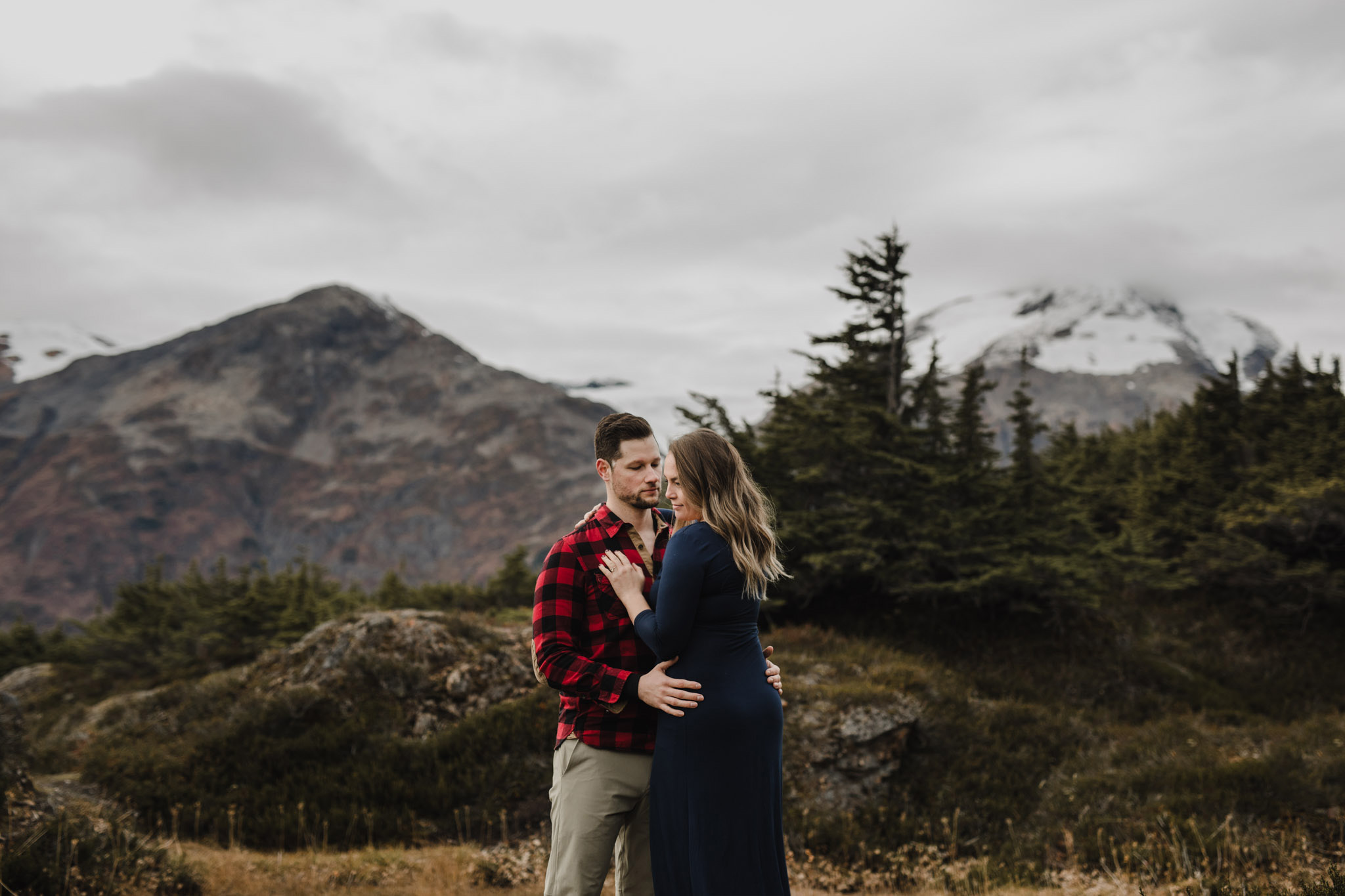 BC Mountain Top Engagement Photographer - portraits in the mountains