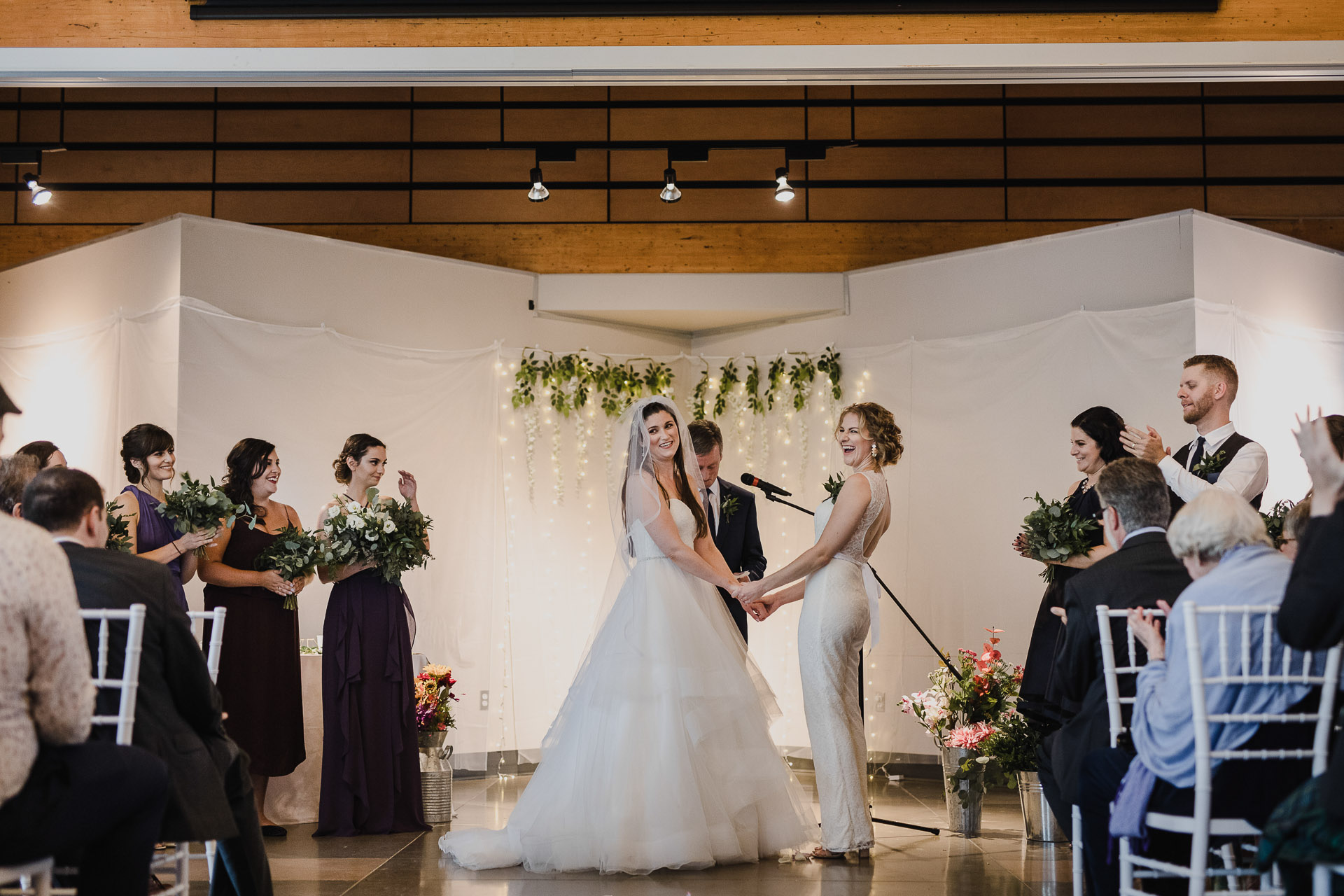 Balls Falls Conservation Area Wedding - laughs at the alter