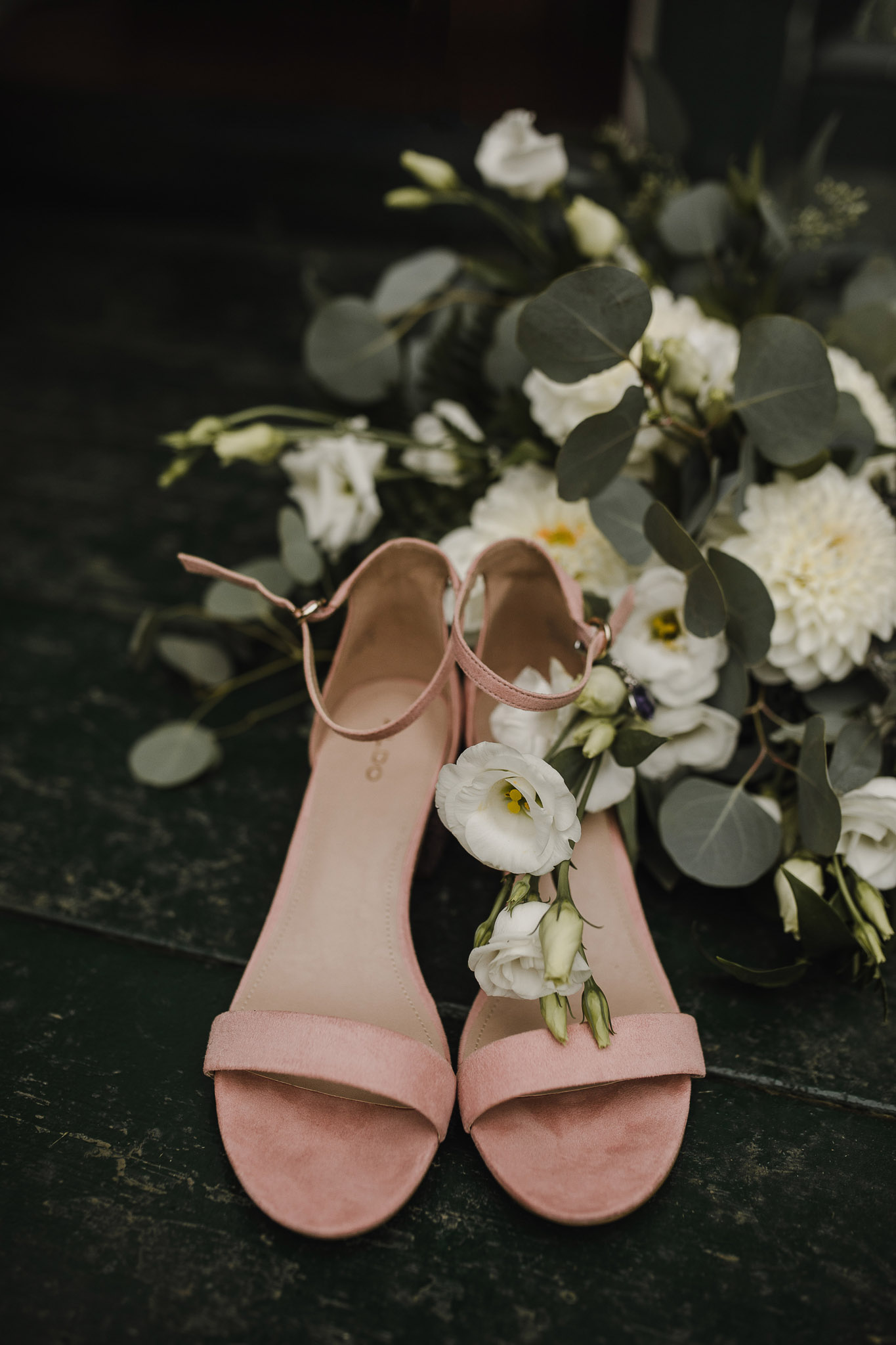 Balls Falls Conservation Area Wedding - shoes and bouquet