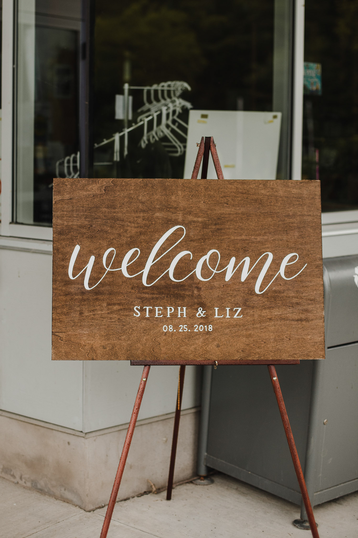 Balls Falls Conservation Area Wedding - welcome board