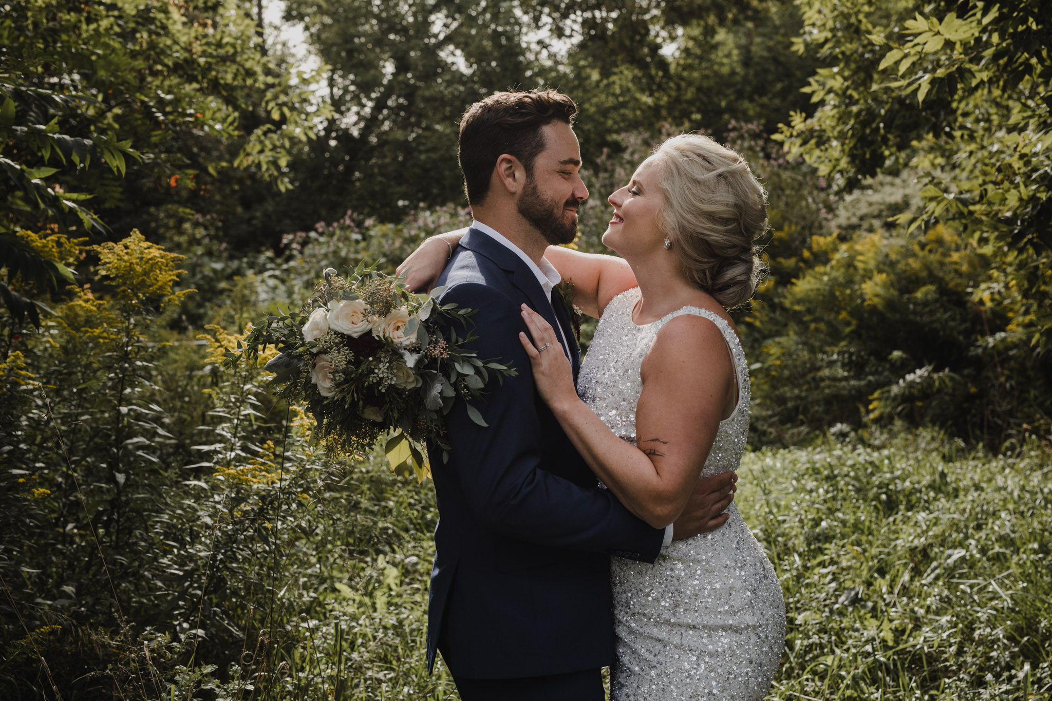 Century Barn Wedding Photographer - smiles in your arms