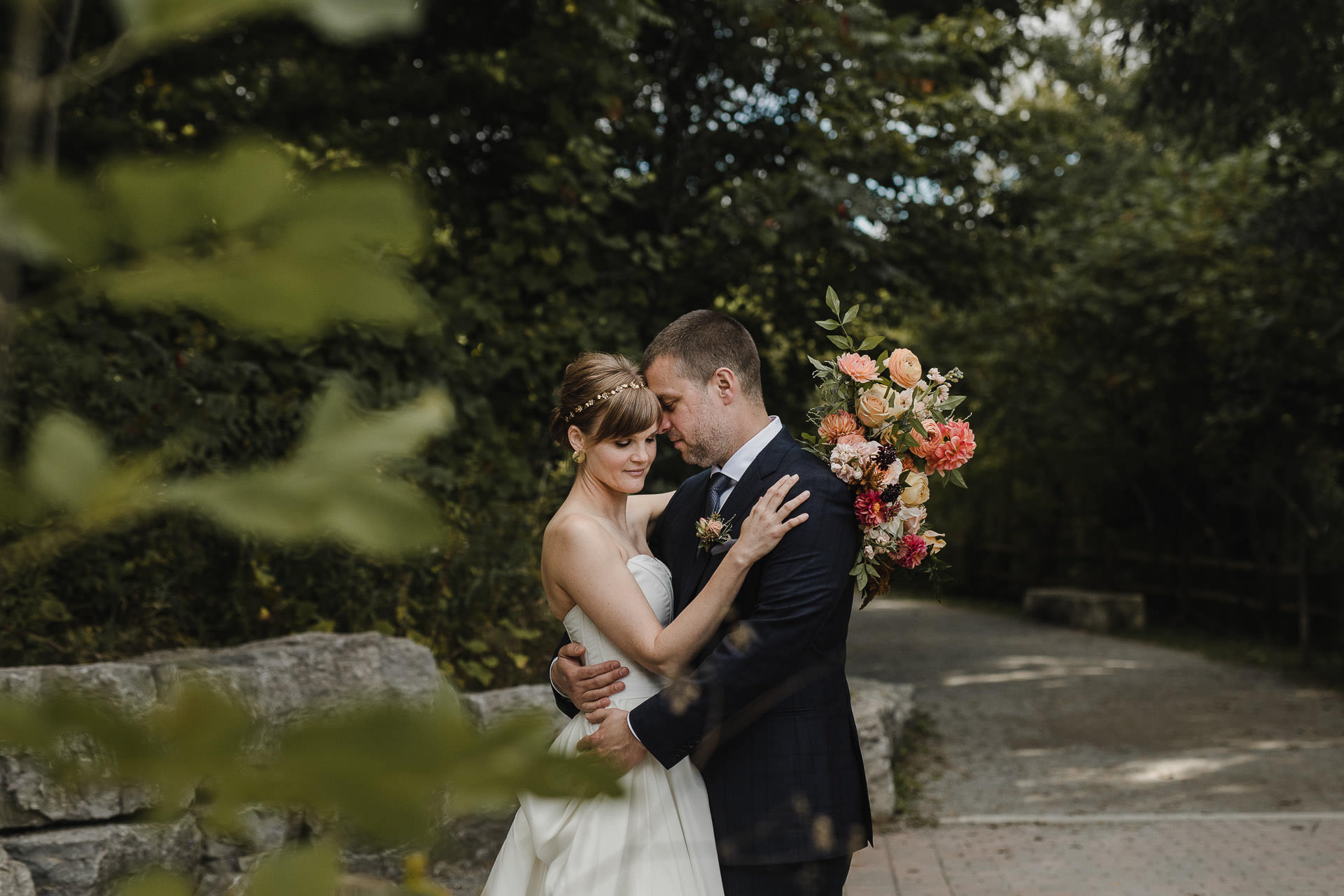 Evergreen Brickworks wedding photographer - don valley wedding portraits