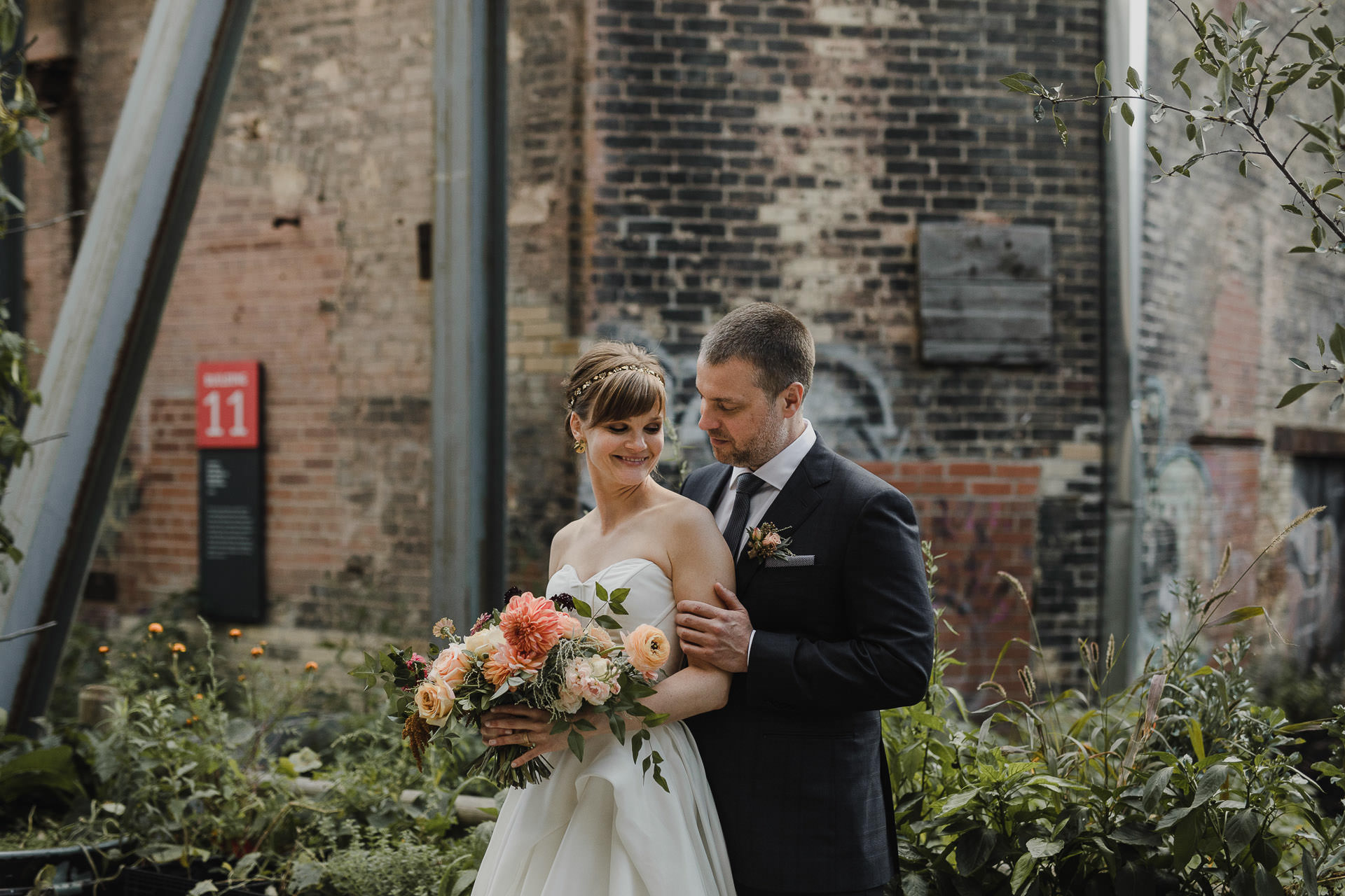 Evergreen Brickworks wedding photographer - portraits in the brickworks