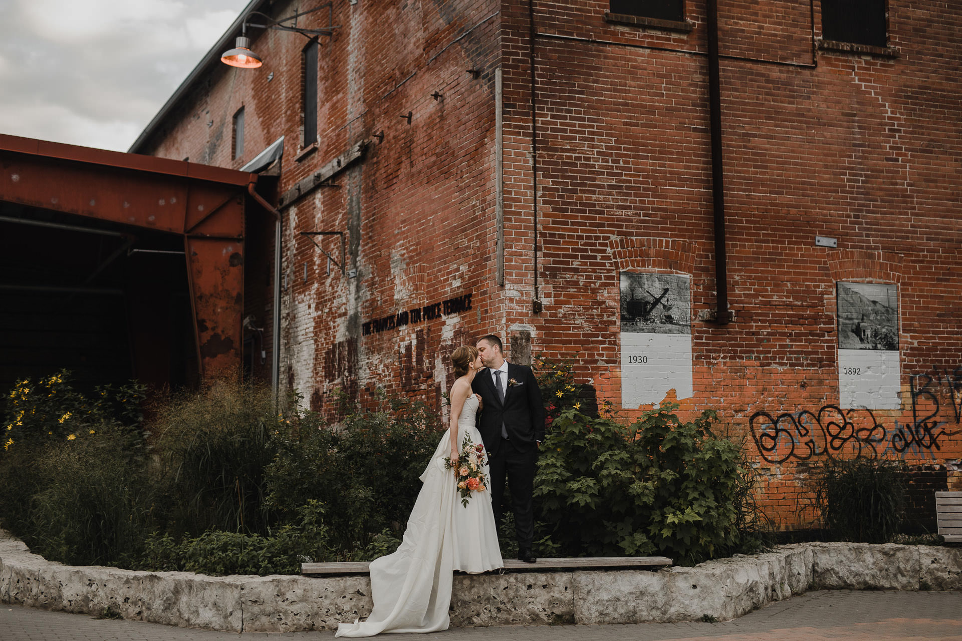 Evergreen Brickworks wedding photographer - wedding portraits at evergreen brickworks