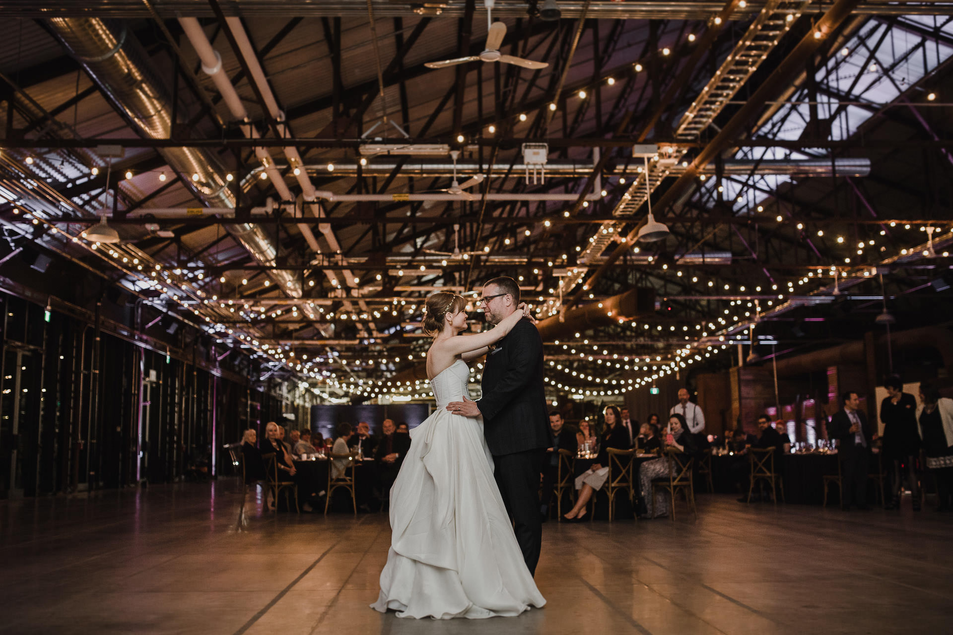 Evergreen Brickworks wedding photographer - first dance