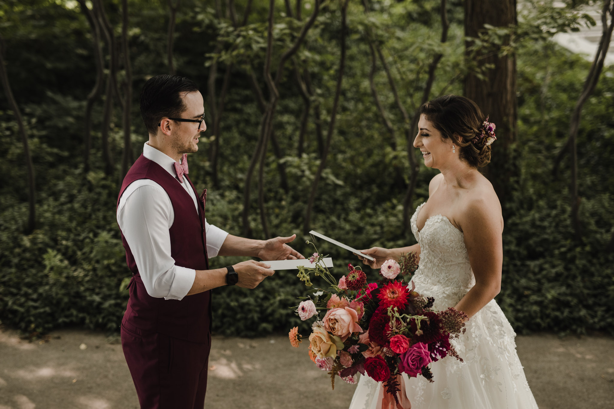Berkeley Church Wedding - exchanging letters