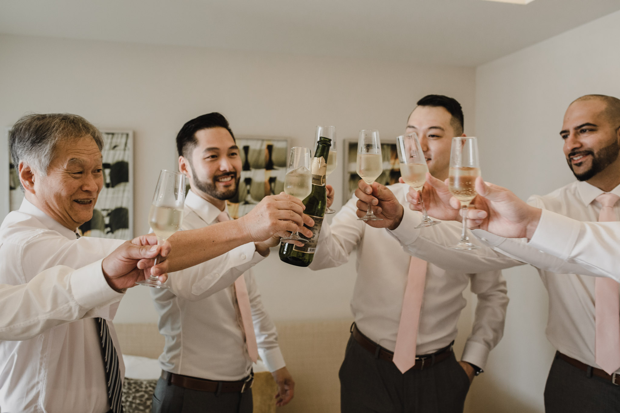 Cancun Mexico Wedding - groomsmen toast
