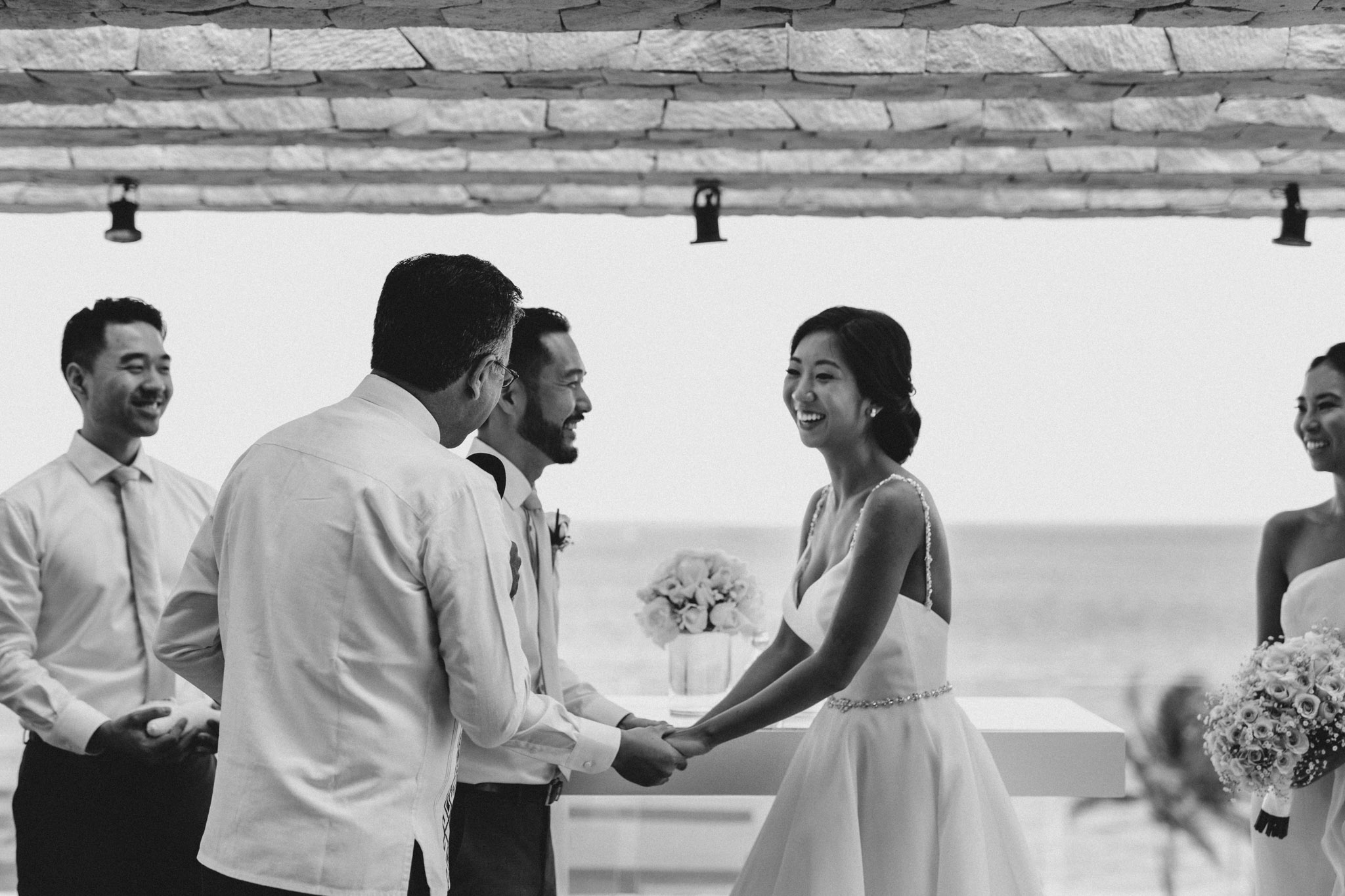 Cancun Mexico Wedding - laughter at the alter