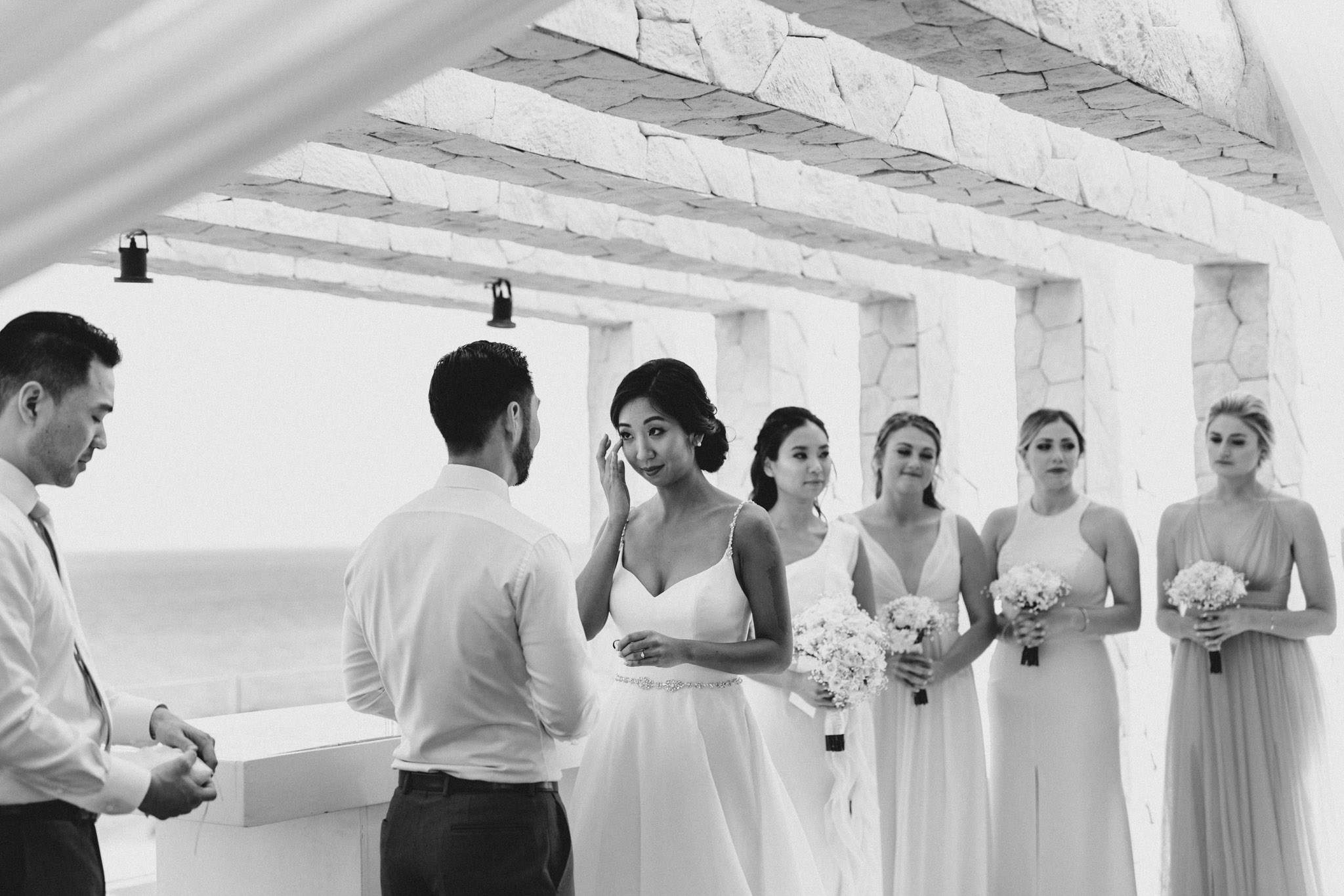 Cancun Mexico Wedding - tears of joy at the alter