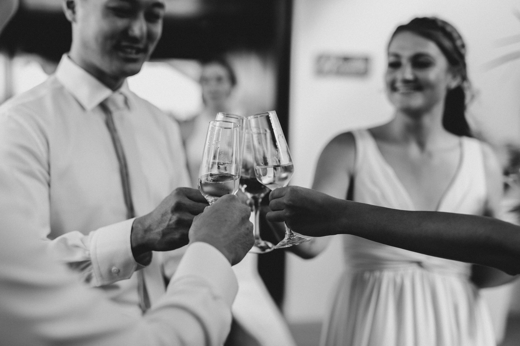 Cancun Mexico Wedding - cheers to the newlyweds