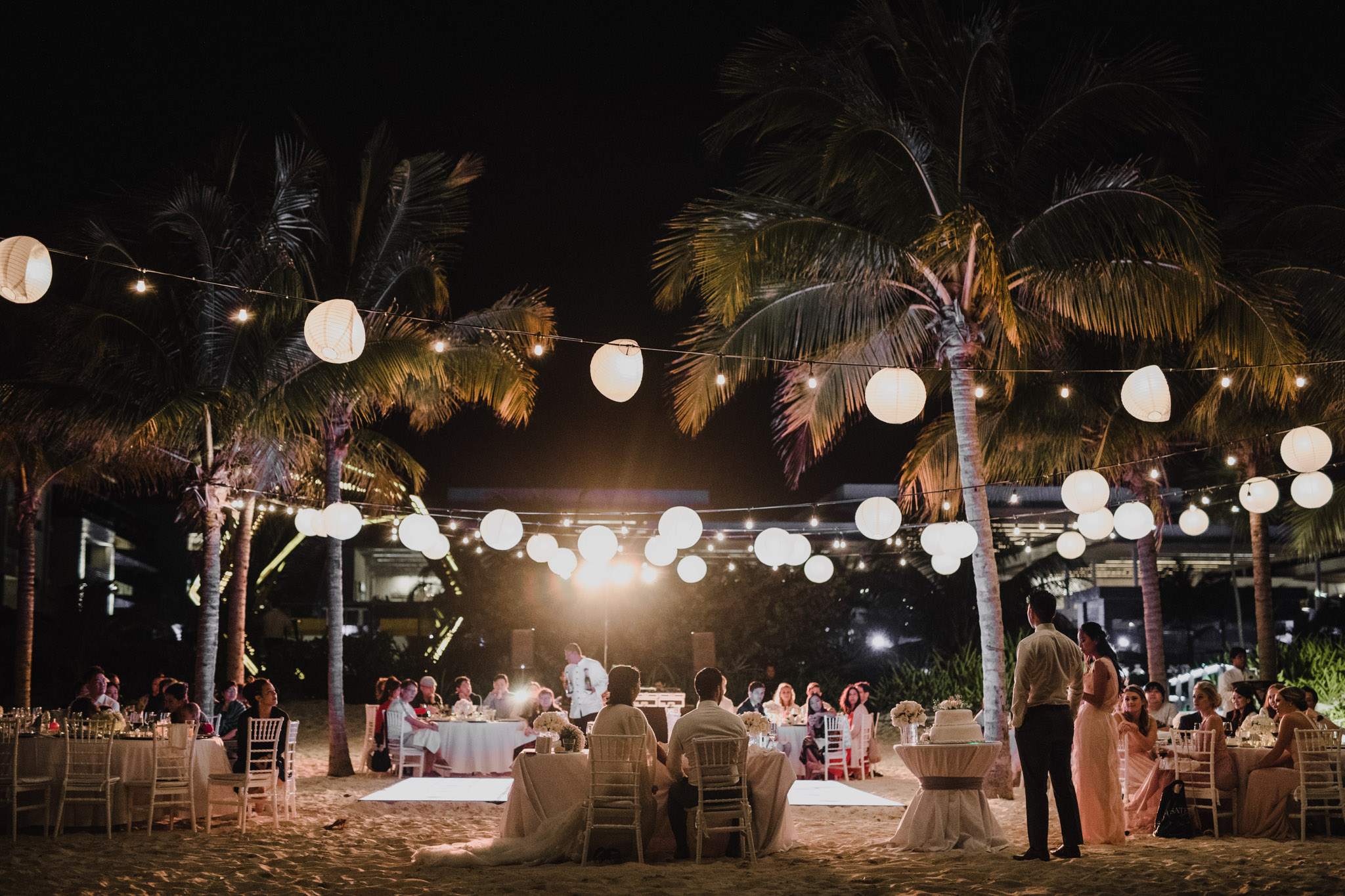 Cancun Mexico Wedding - romantic beach reception