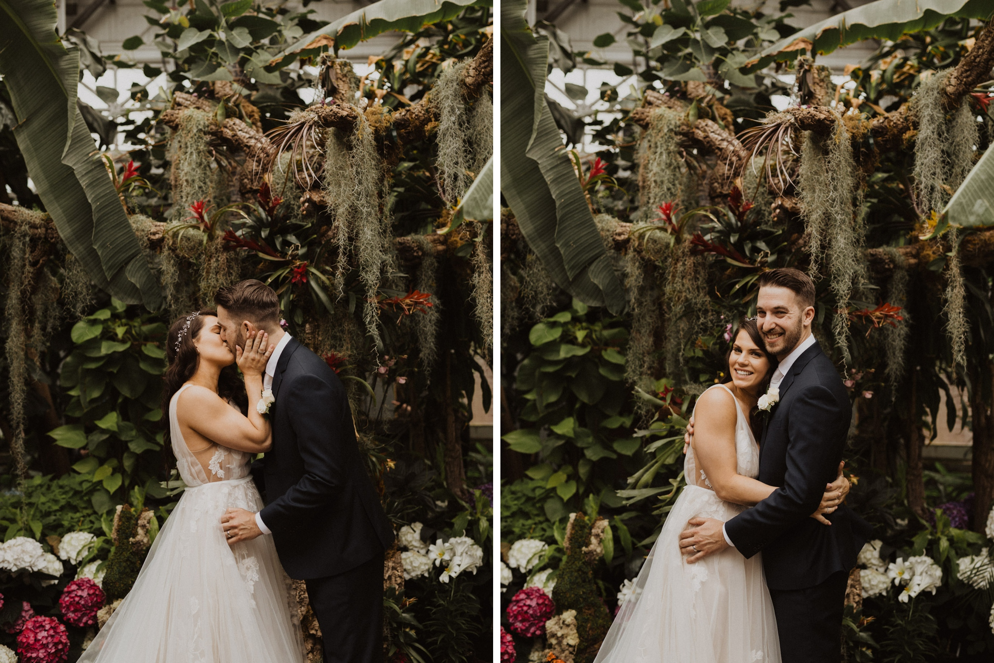Greenhouse Elopement Allan Gardens Toronto - the kiss