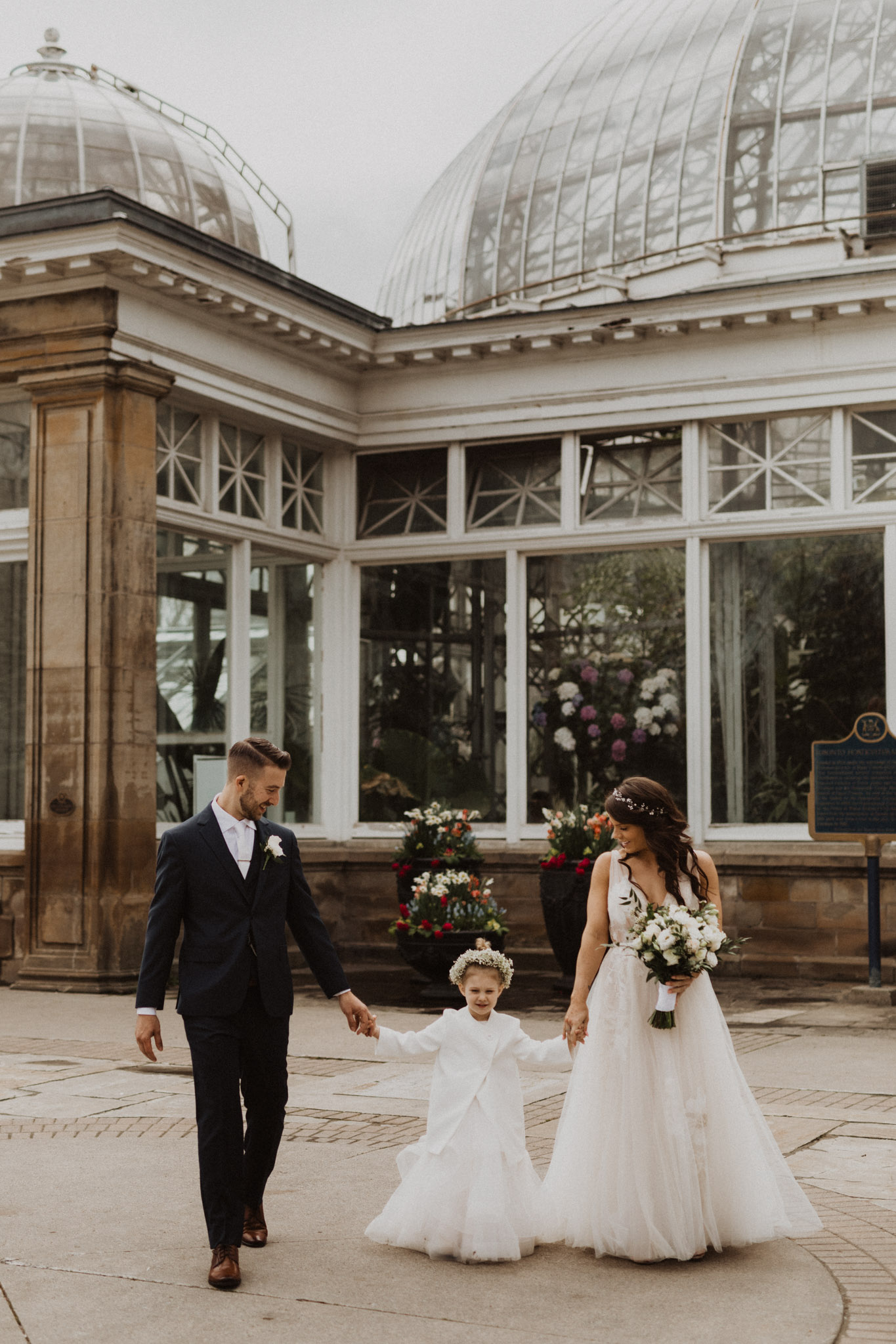 Greenhouse Elopement Allan Gardens Toronto - small family wedding