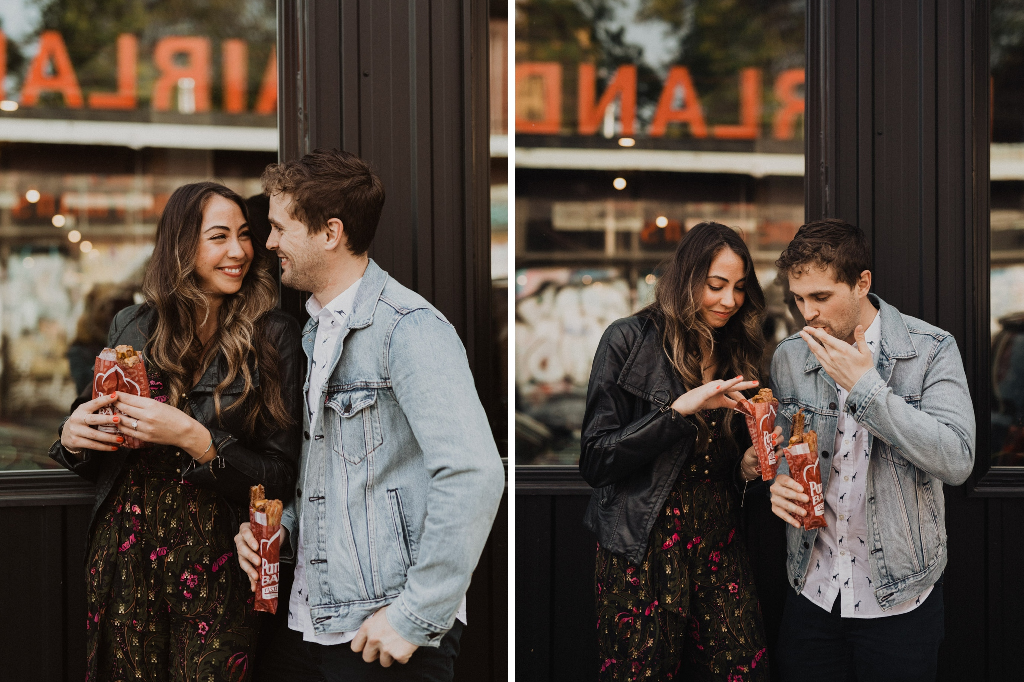 Churros and love. Kensington Engagement. Jennifer See Studios.