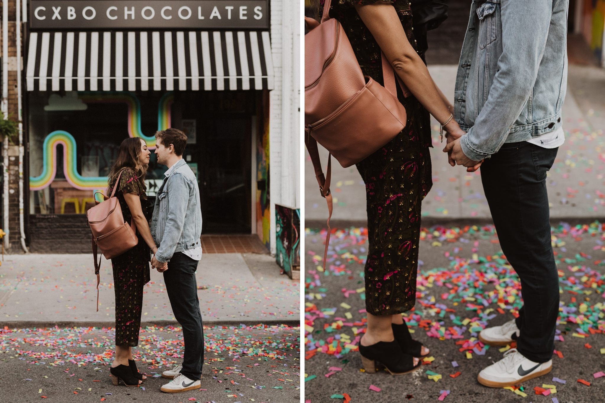 Confetti ground. Kensington Engagement. Jennifer See Studios.