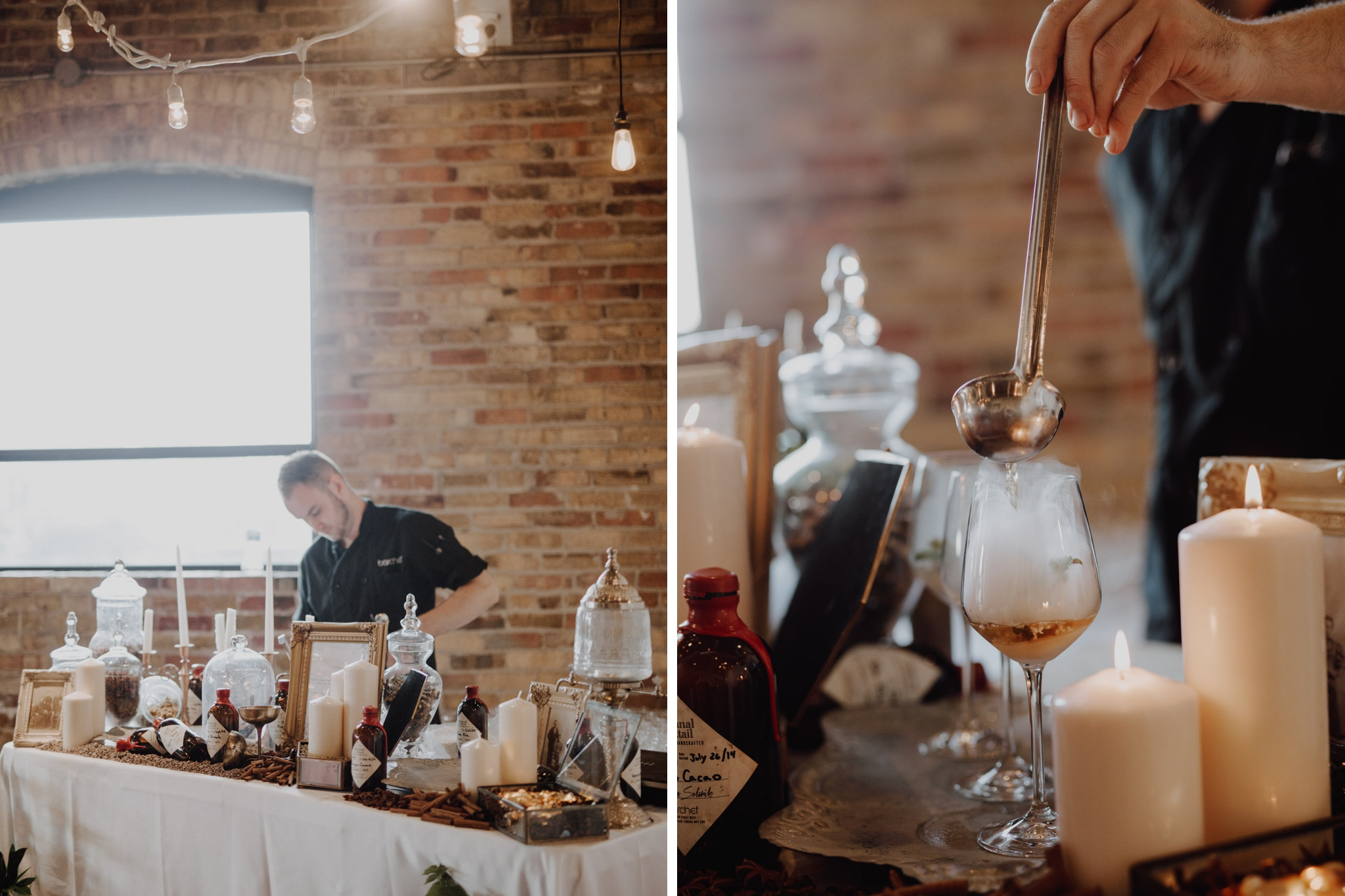 Epic bar at The Burroughes Wedding. Love By Lynzie. Wedding Photographer Jennifer See Studios.