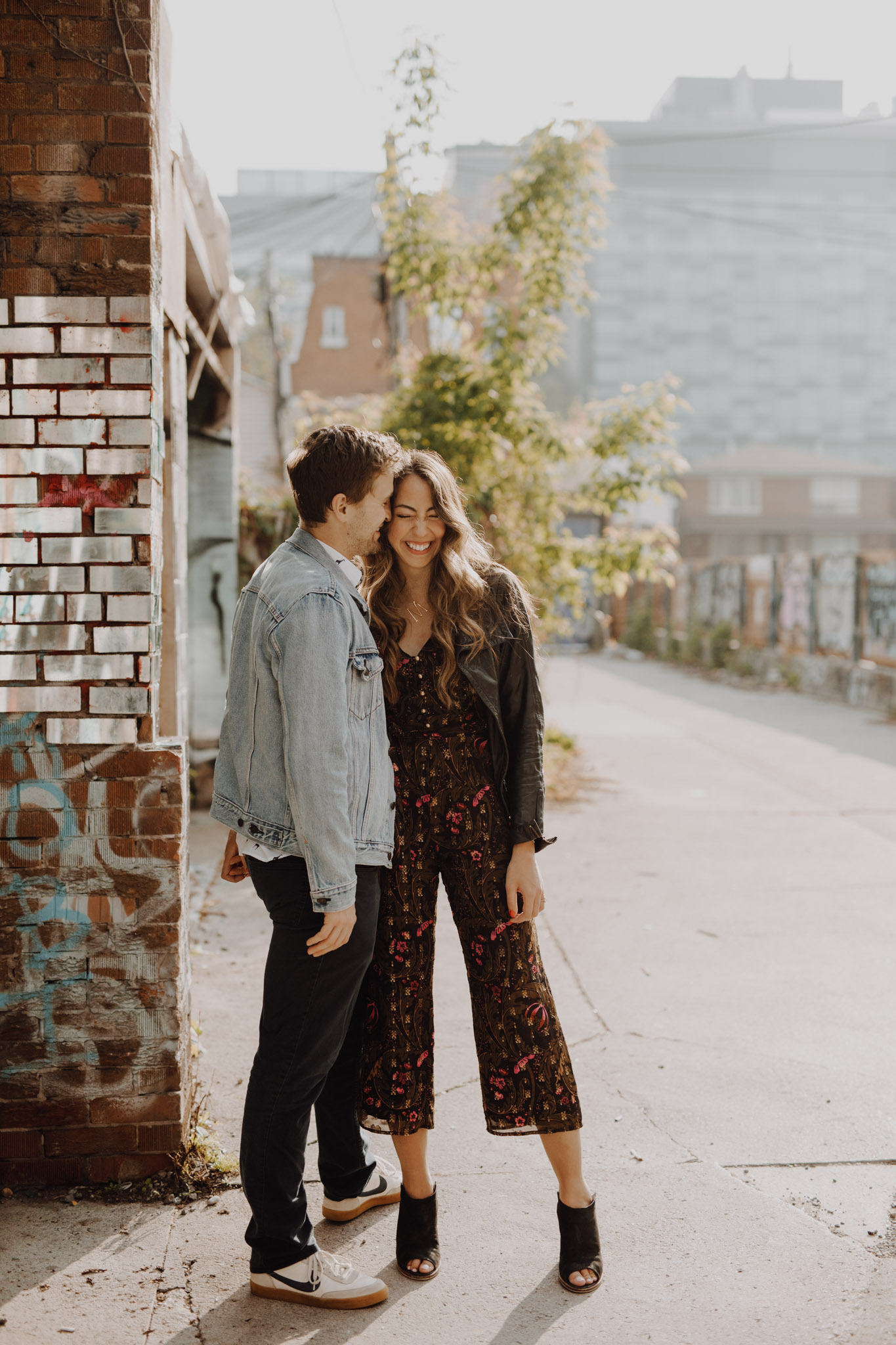 Engagement pantsuit. Kensington Engagement. Jennifer See Studios.
