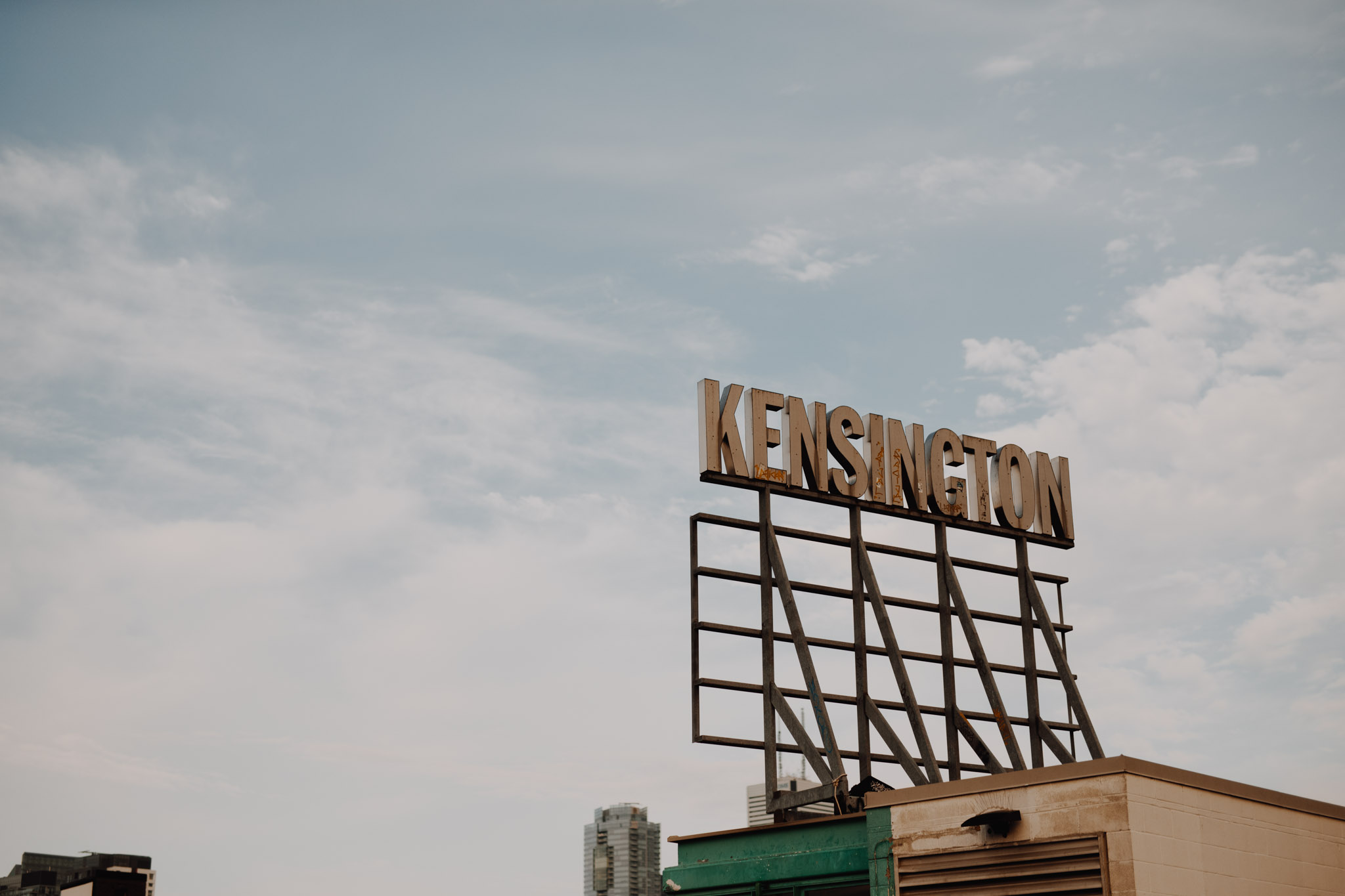 Kensington Market Sign. Kensington Engagement. Jennifer See Studios.