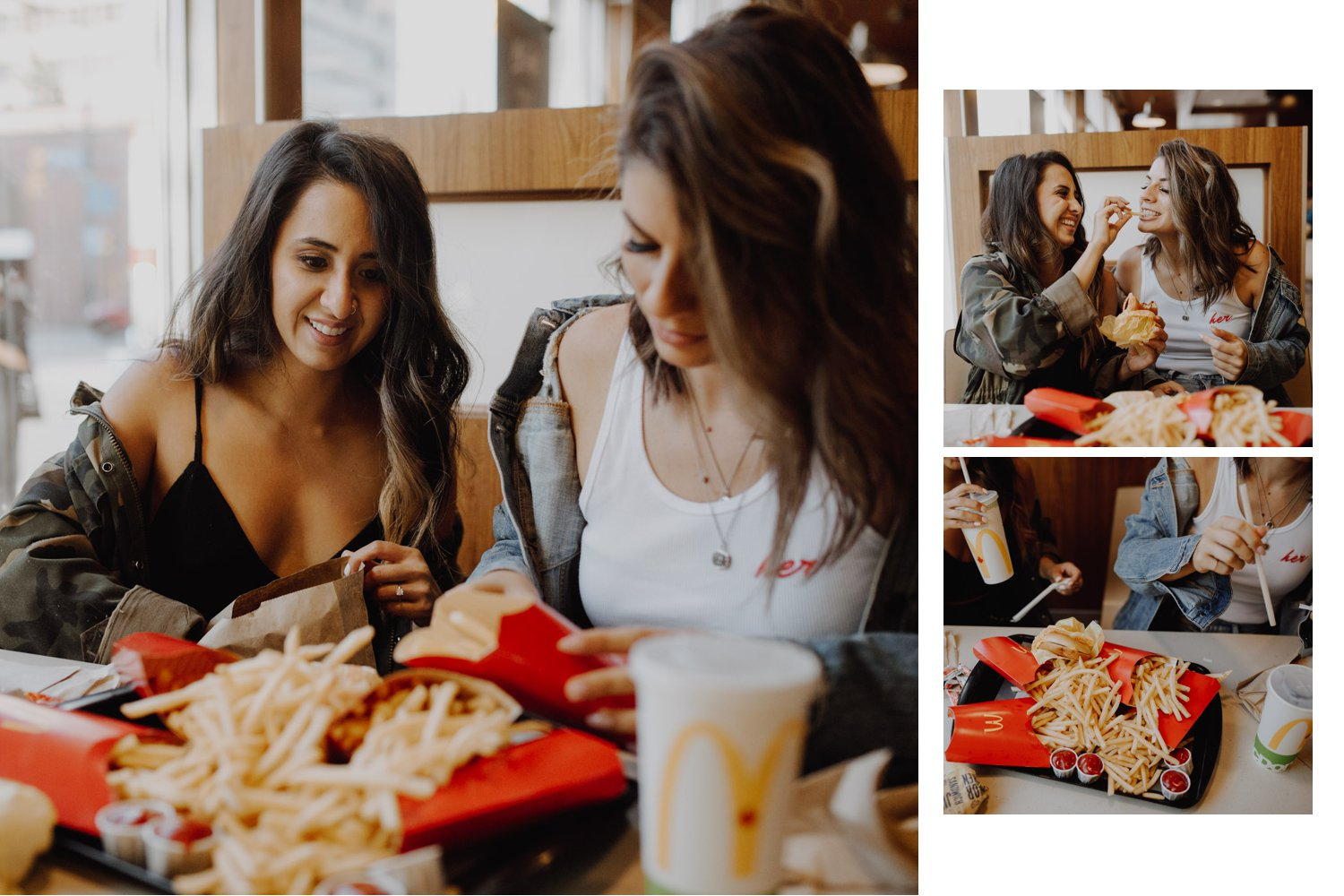 Mcdonalds engagement session - a pile of fries