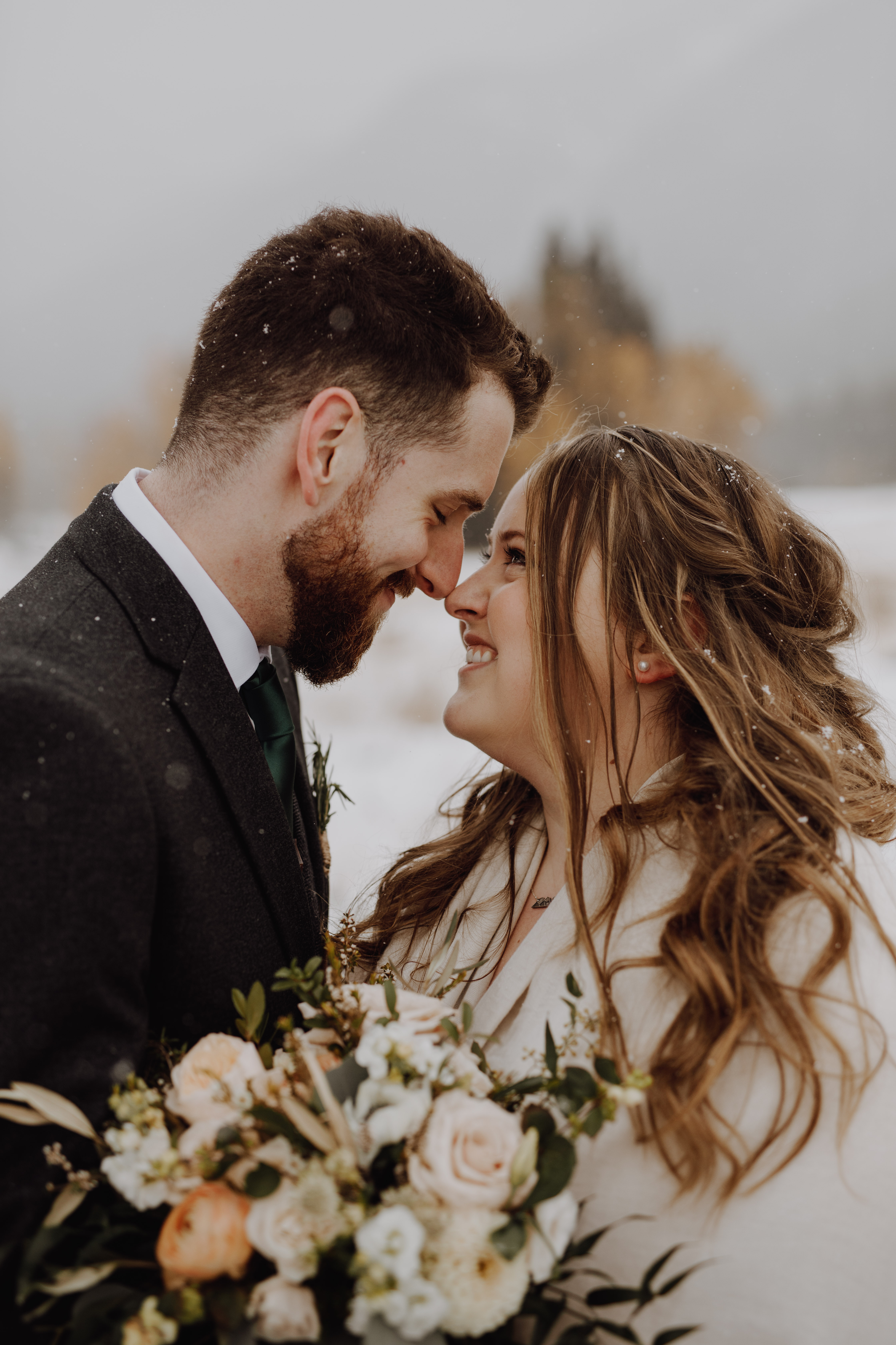 Banff Wedding - portraits in the snow