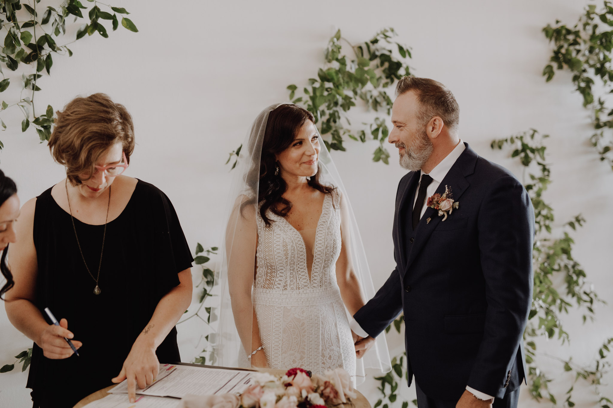District 28 Wedding Toronto - sign the papers