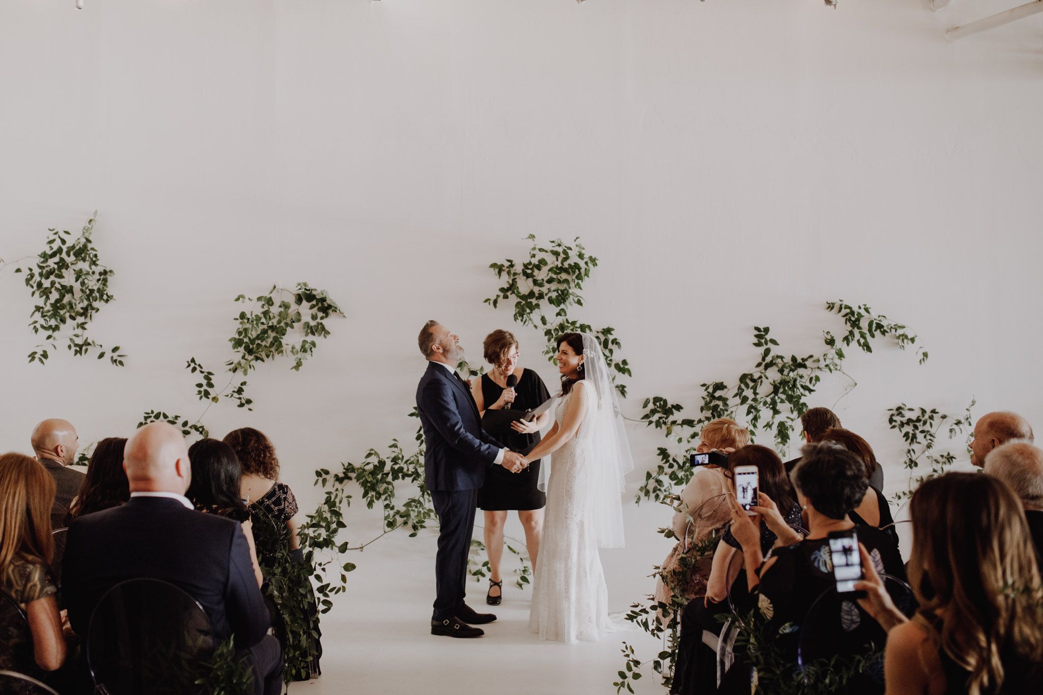 District 28 Wedding Toronto - laughing during ceremony
