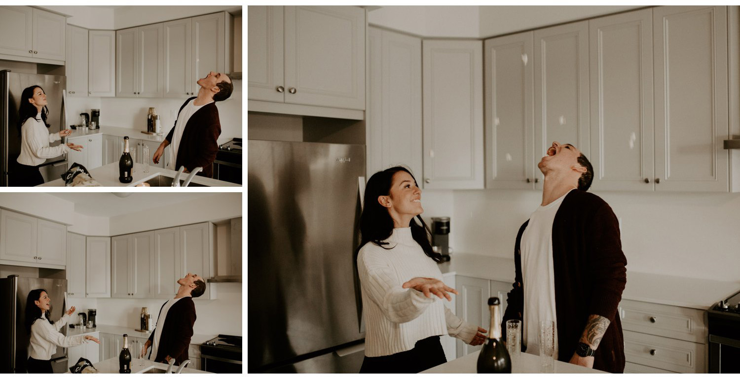 In Home Engagement Session - goofing around