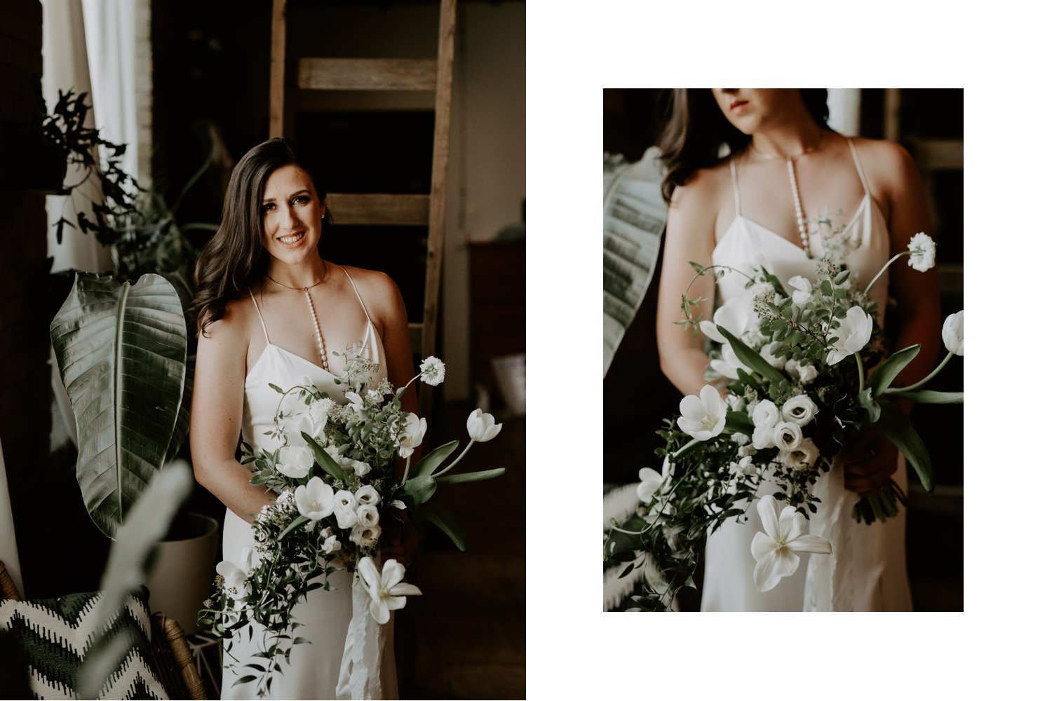 Archeo Wedding - Bride Portrait with bouqet by Florist Tanya List