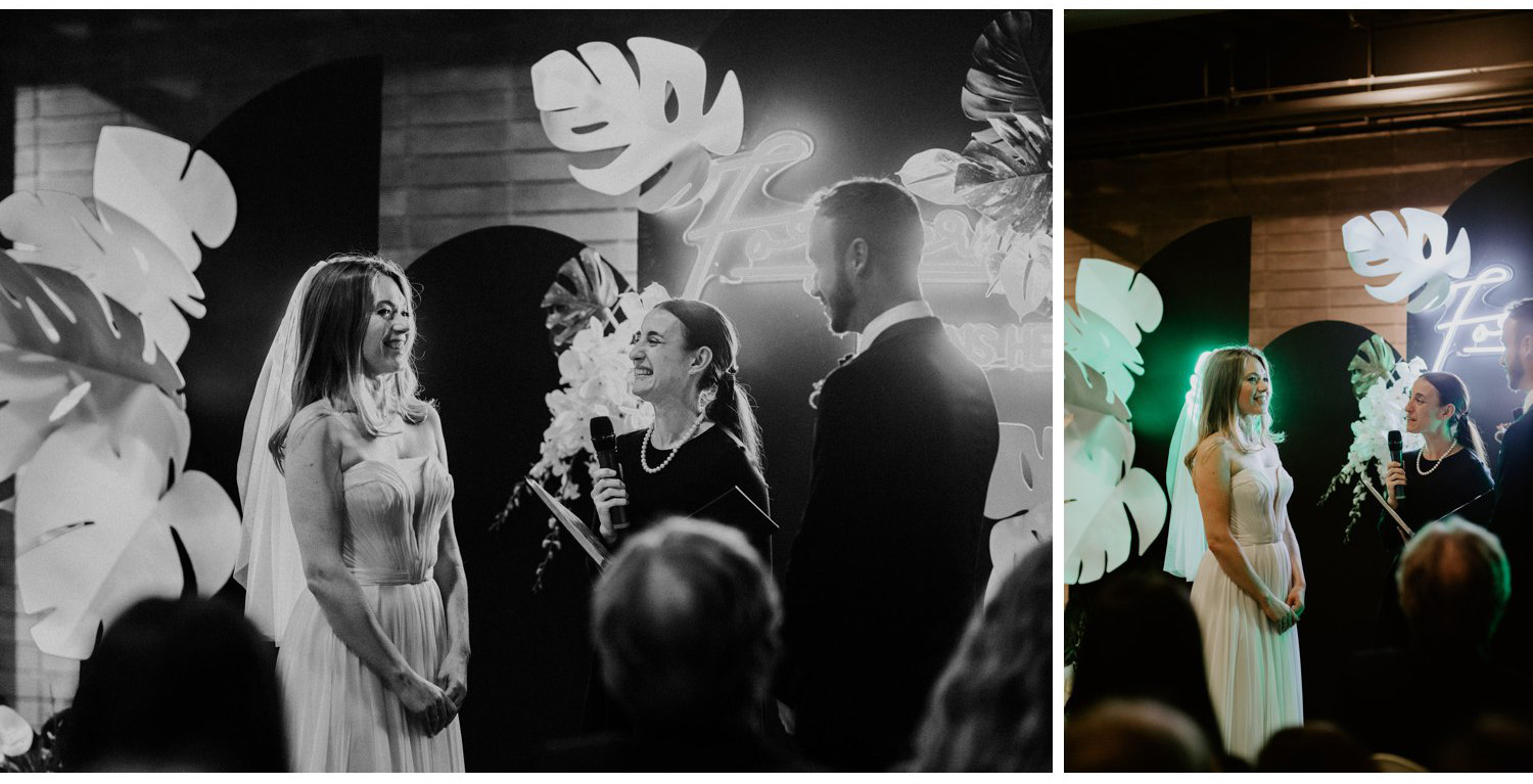 Casa La Palma Wedding - Bride and groom at the alter - Pop Up Chapel - Love By Lynzie Wedding