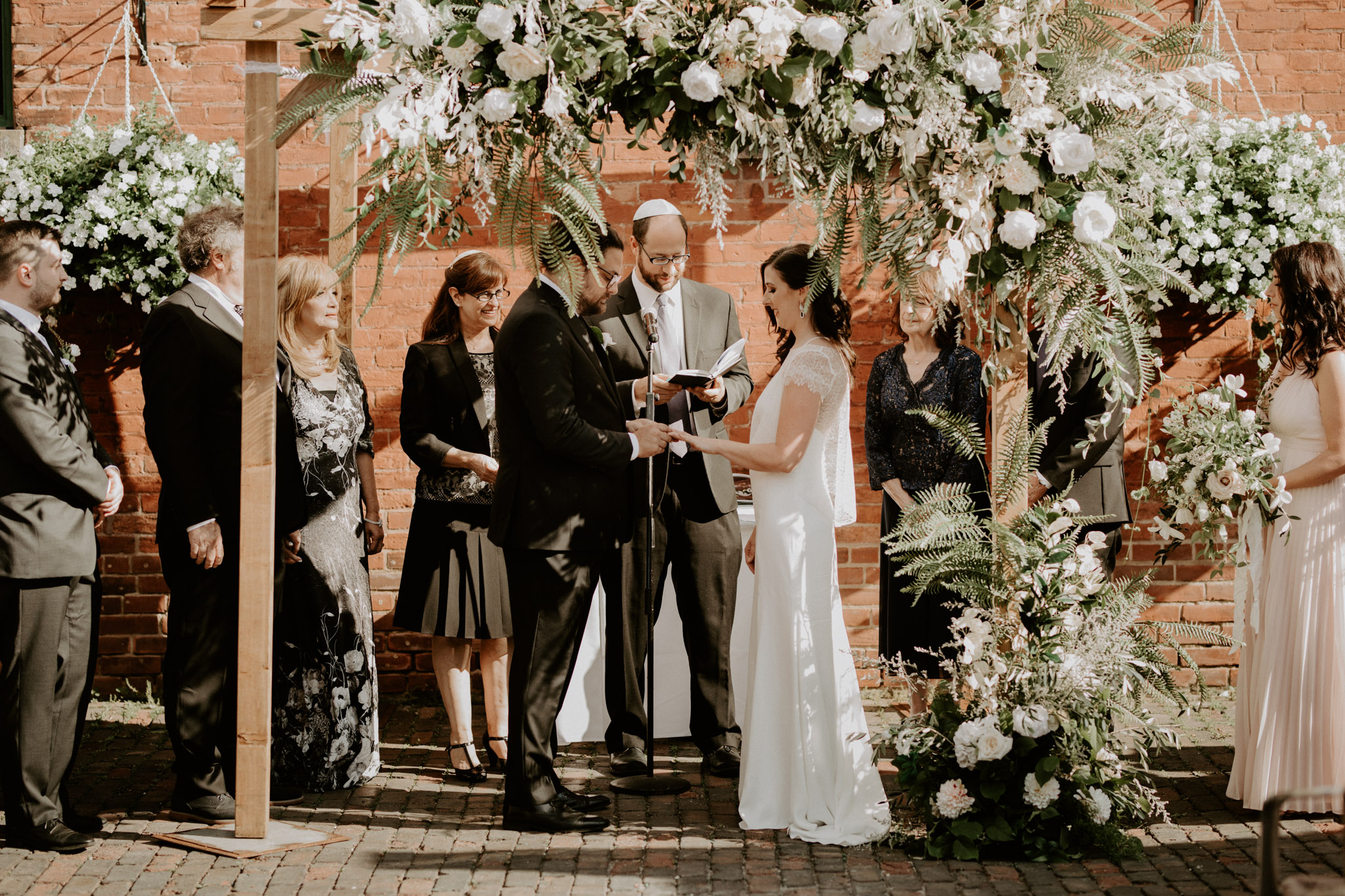 Archeo Wedding - Distillery District -White Rose Chuppah by Florist Tanya List