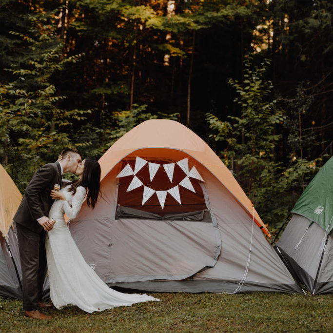Outdoor Camp Wedding - wedding tents