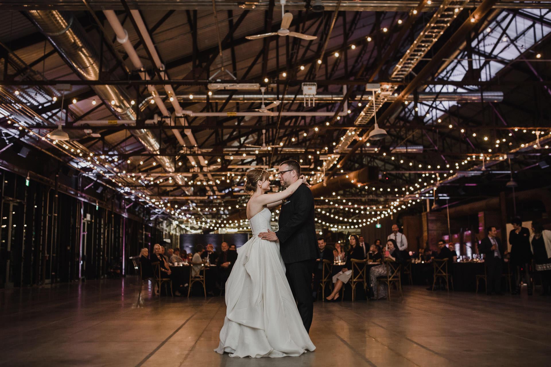 Evergreen Brickworks wedding photographer - first dance