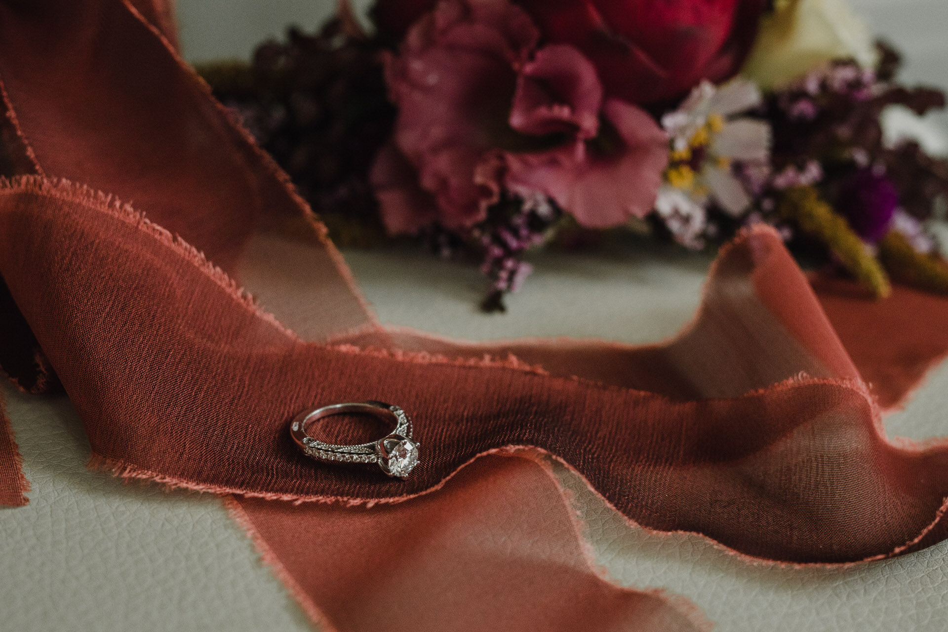Berkeley Church Wedding - ring and bouquet