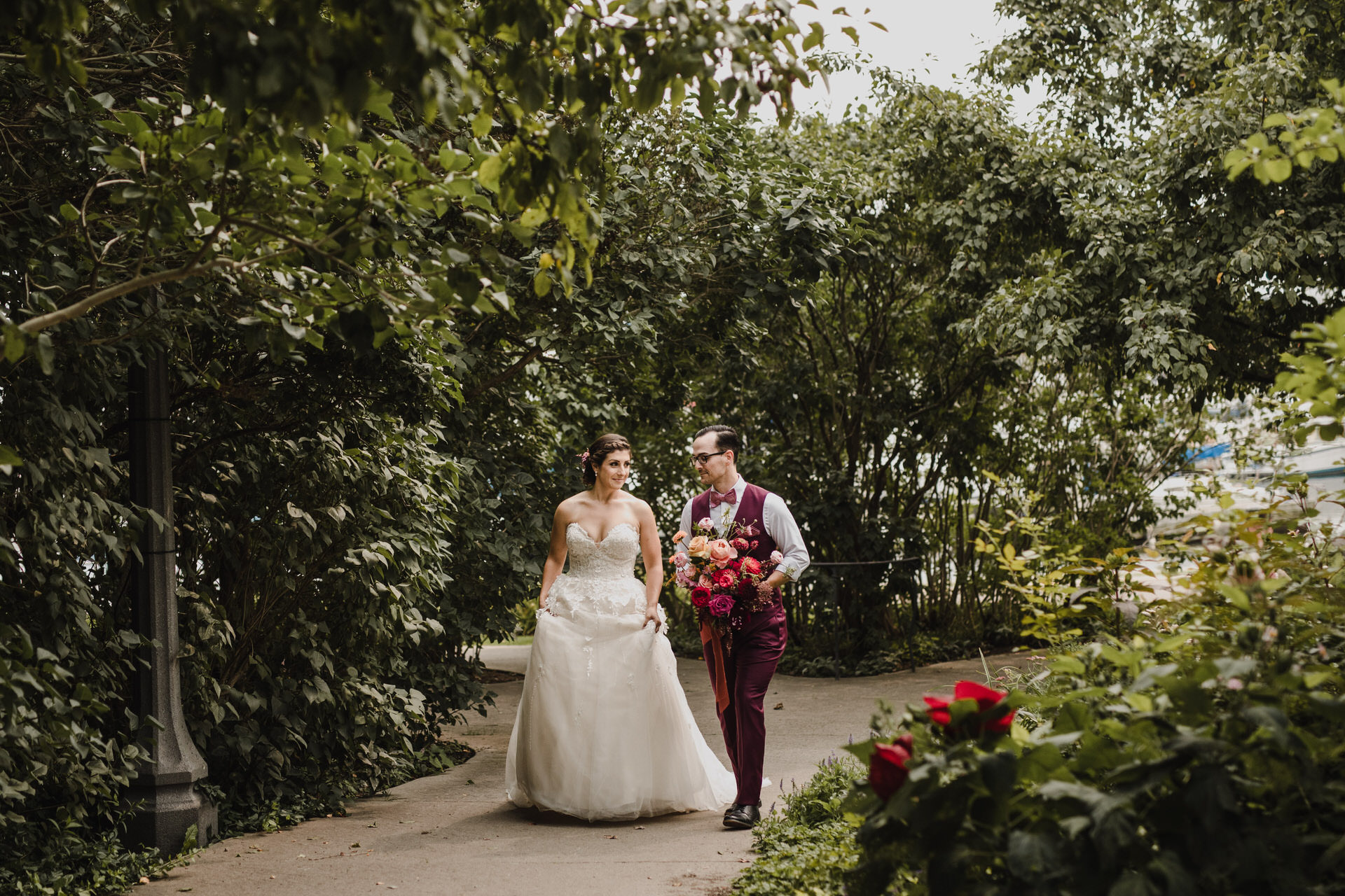 Berkeley Church Wedding - garden stroll