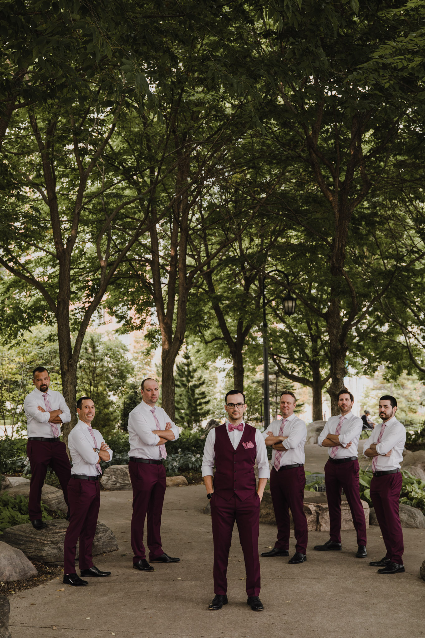 Berkeley Church Wedding - groomsmen in the park