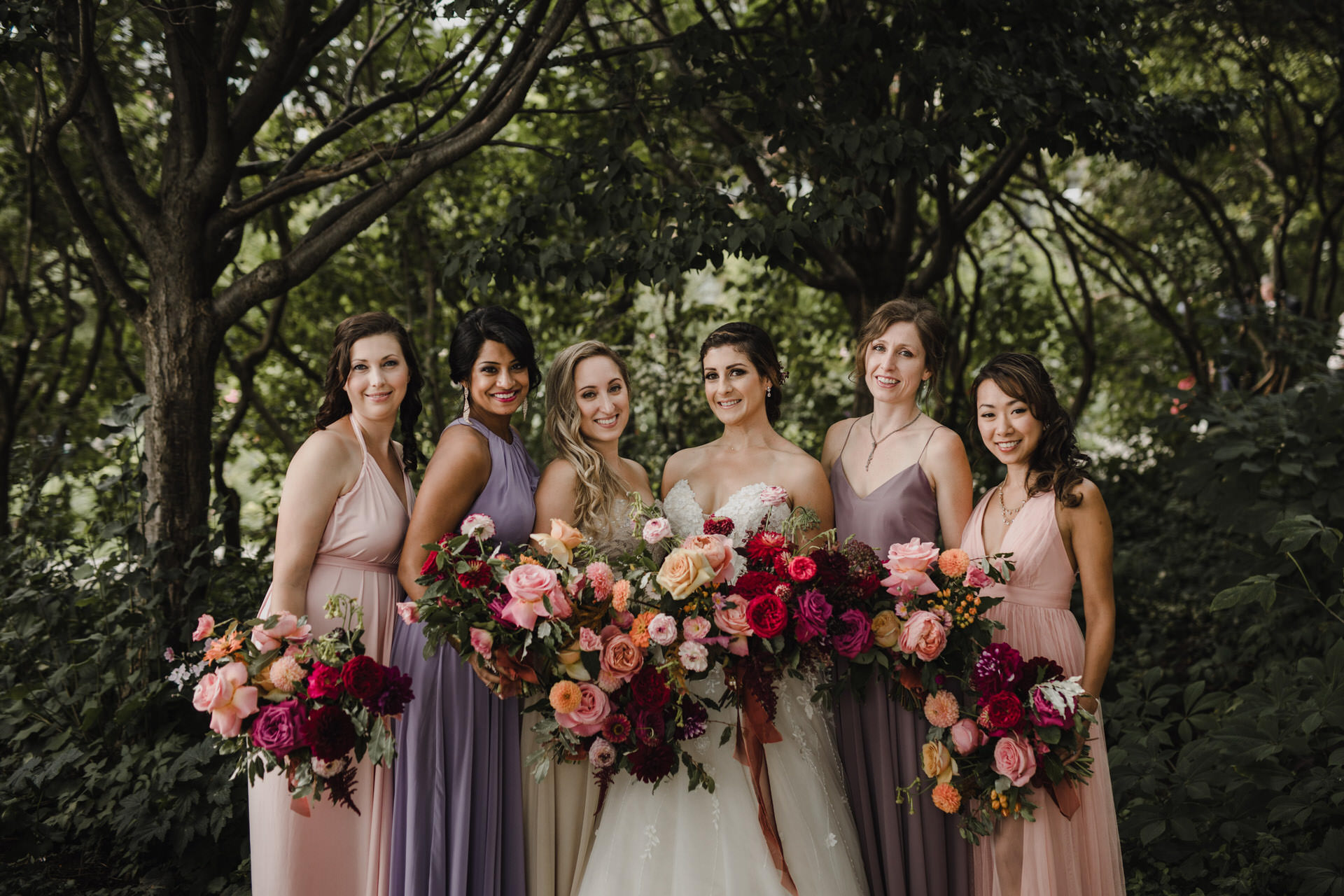 Berkeley Church Wedding - bridesmaids in the park