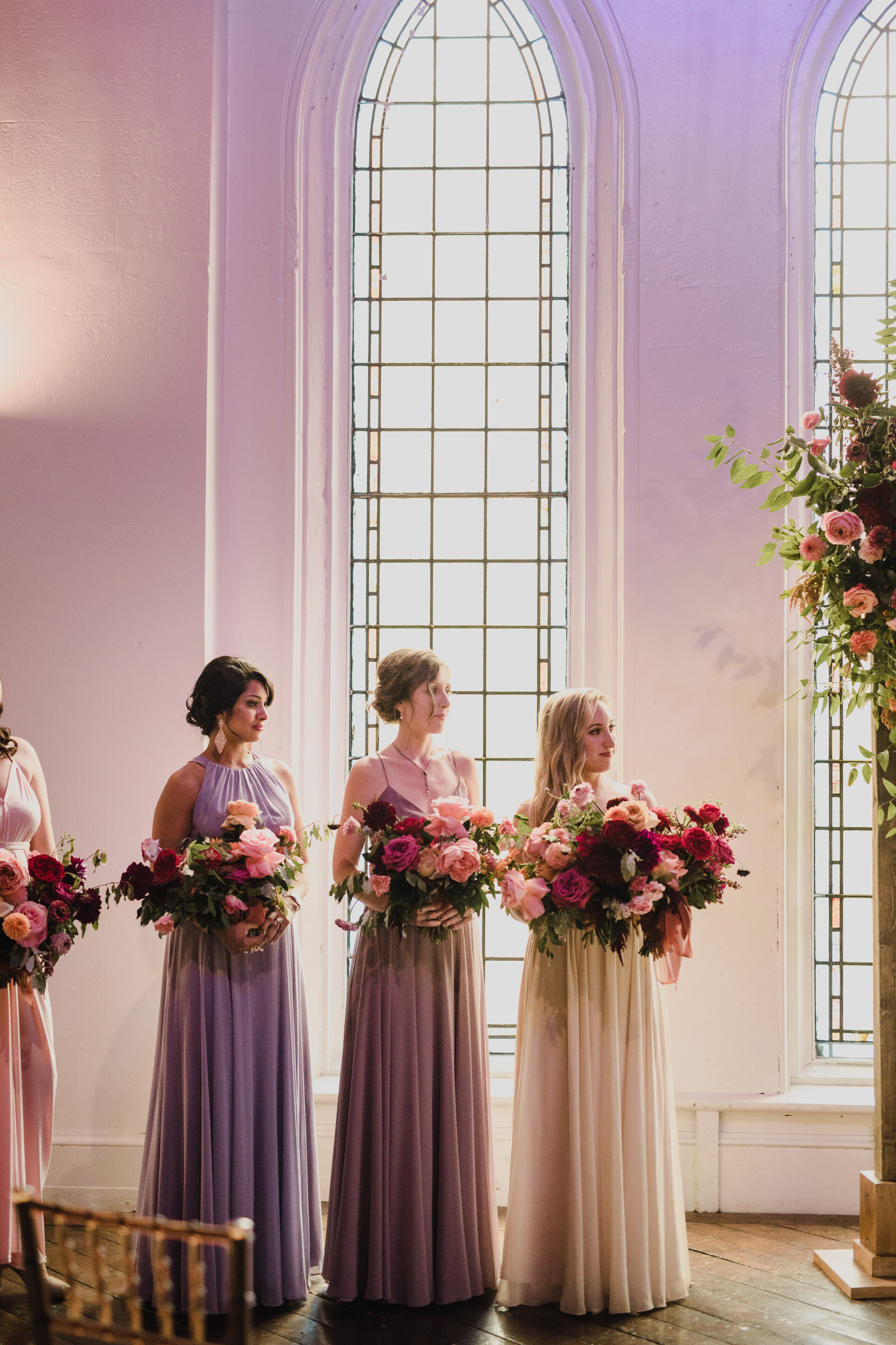 Berkeley Church Wedding - bridesmaids