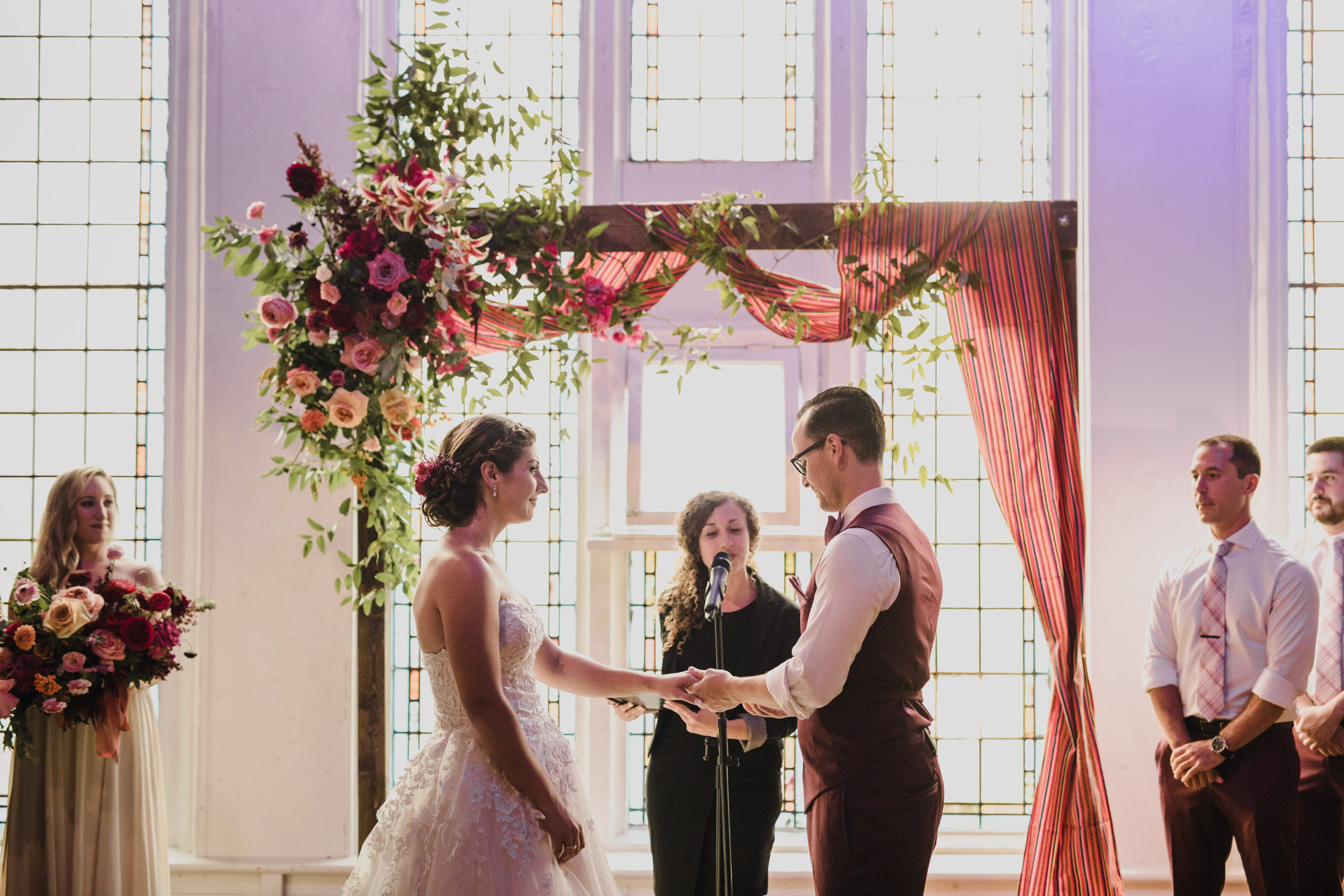 Berkeley Church Wedding - exchanging rings