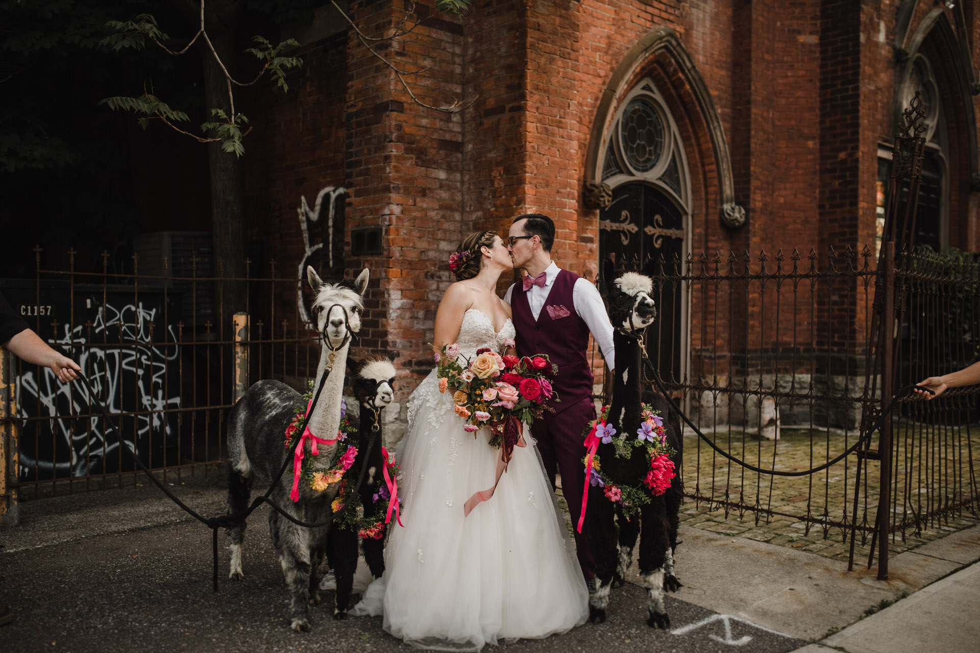 Berkeley Church Wedding - Love By Lynzie llamas