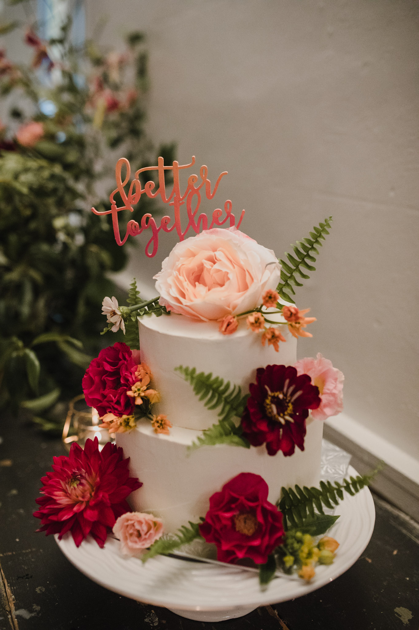 Berkeley Church Wedding - Love By Lynzie Floral cake