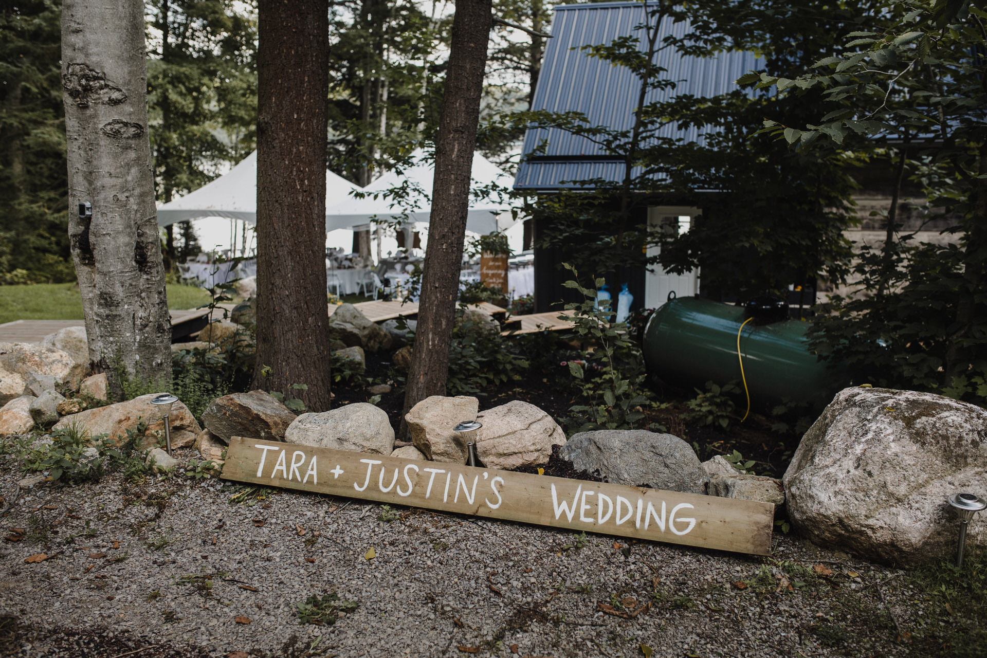 Muskoka Wedding - welcome log