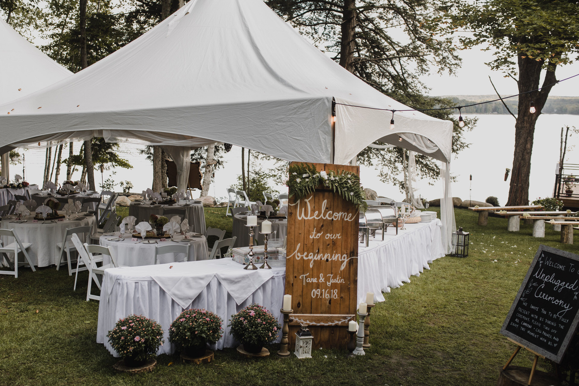 Muskoka Wedding - outdoor reception