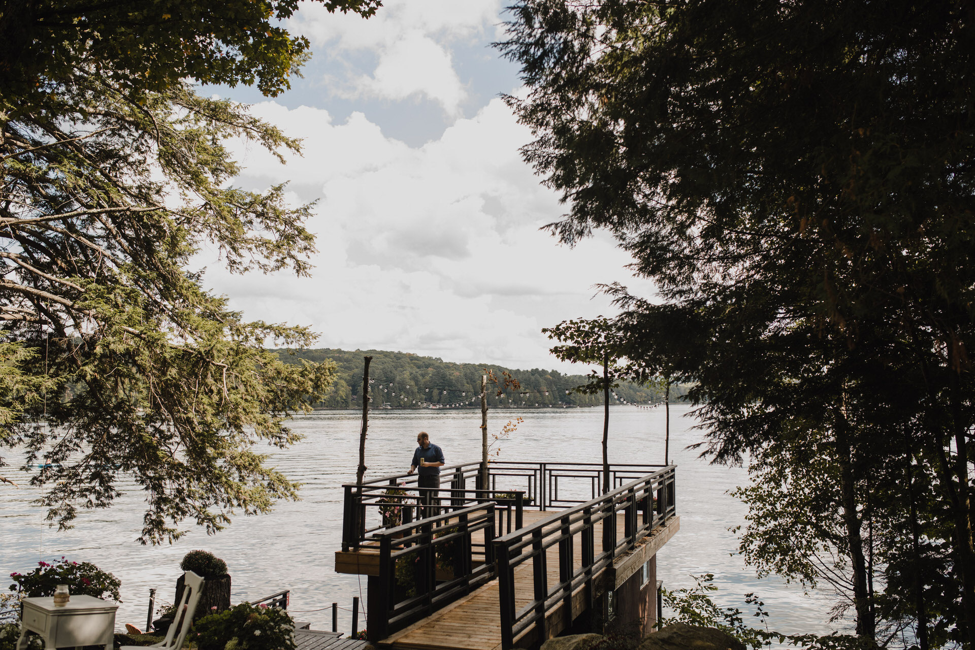 Muskoka Wedding - prepping the dock