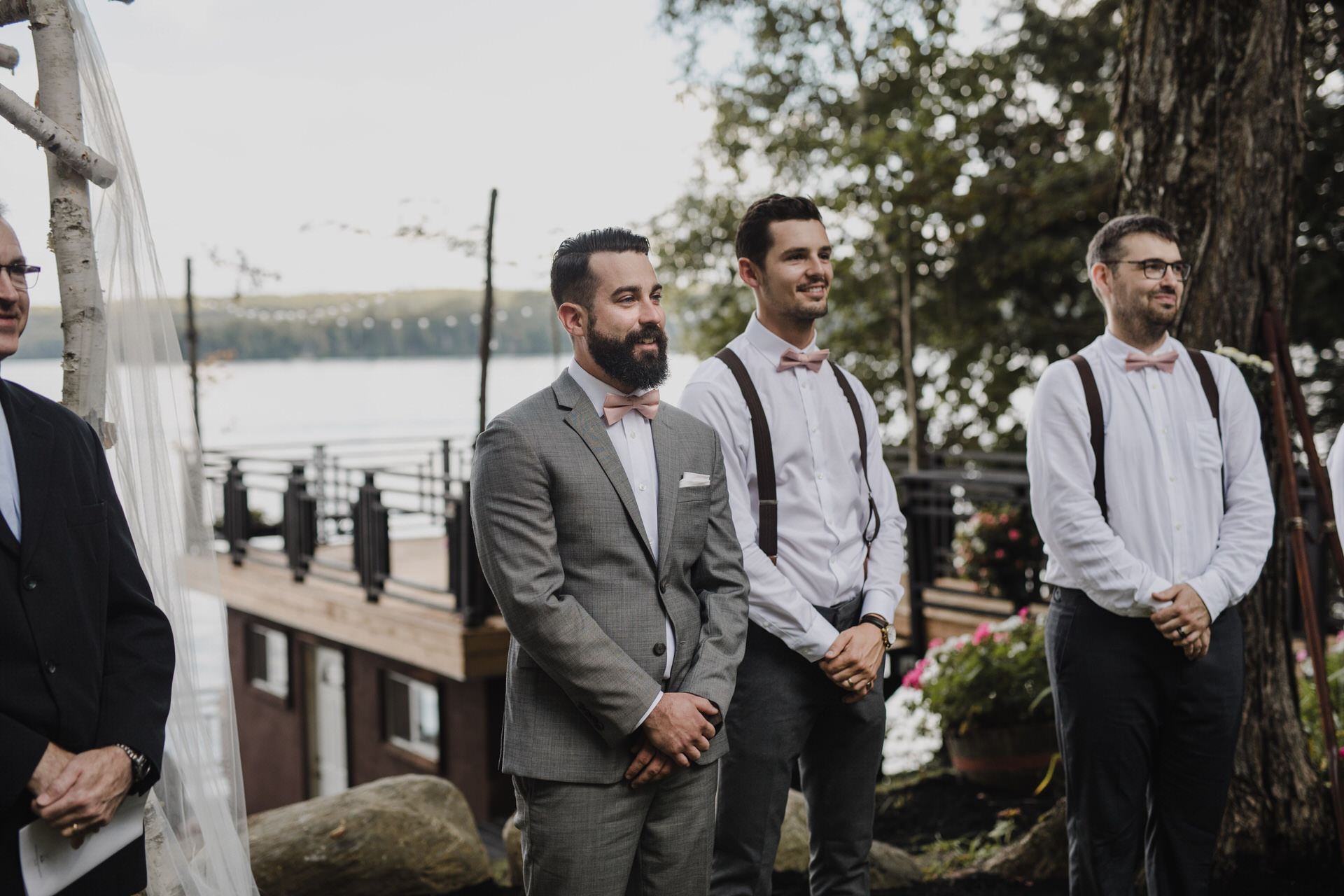 Muskoka Wedding - grooms first look