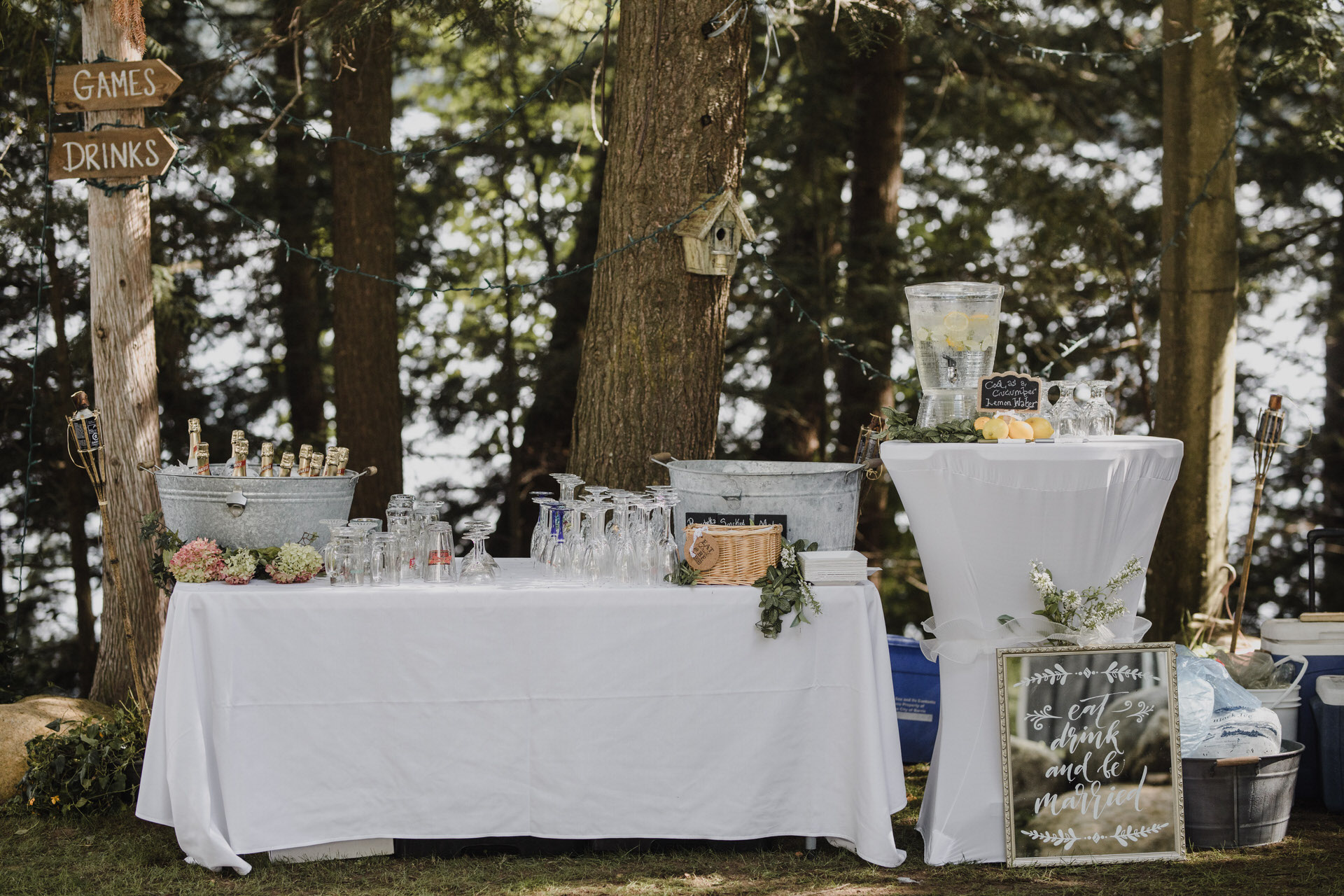 Muskoka Wedding - cottage wedding reception