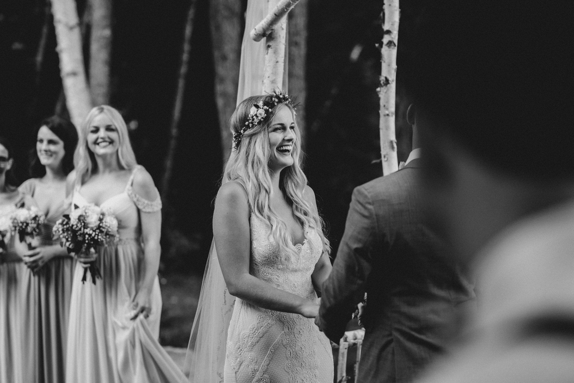 Muskoka Wedding - big laughs at the alter