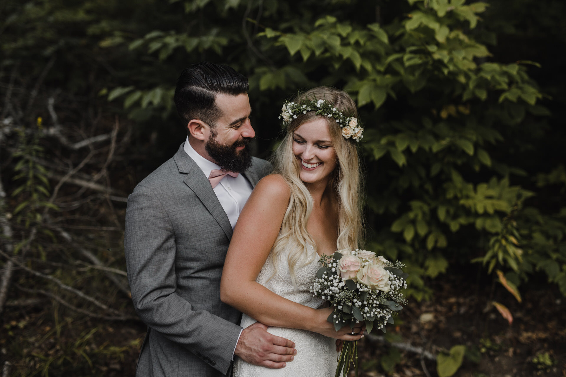 Muskoka Wedding - playing around in the forest