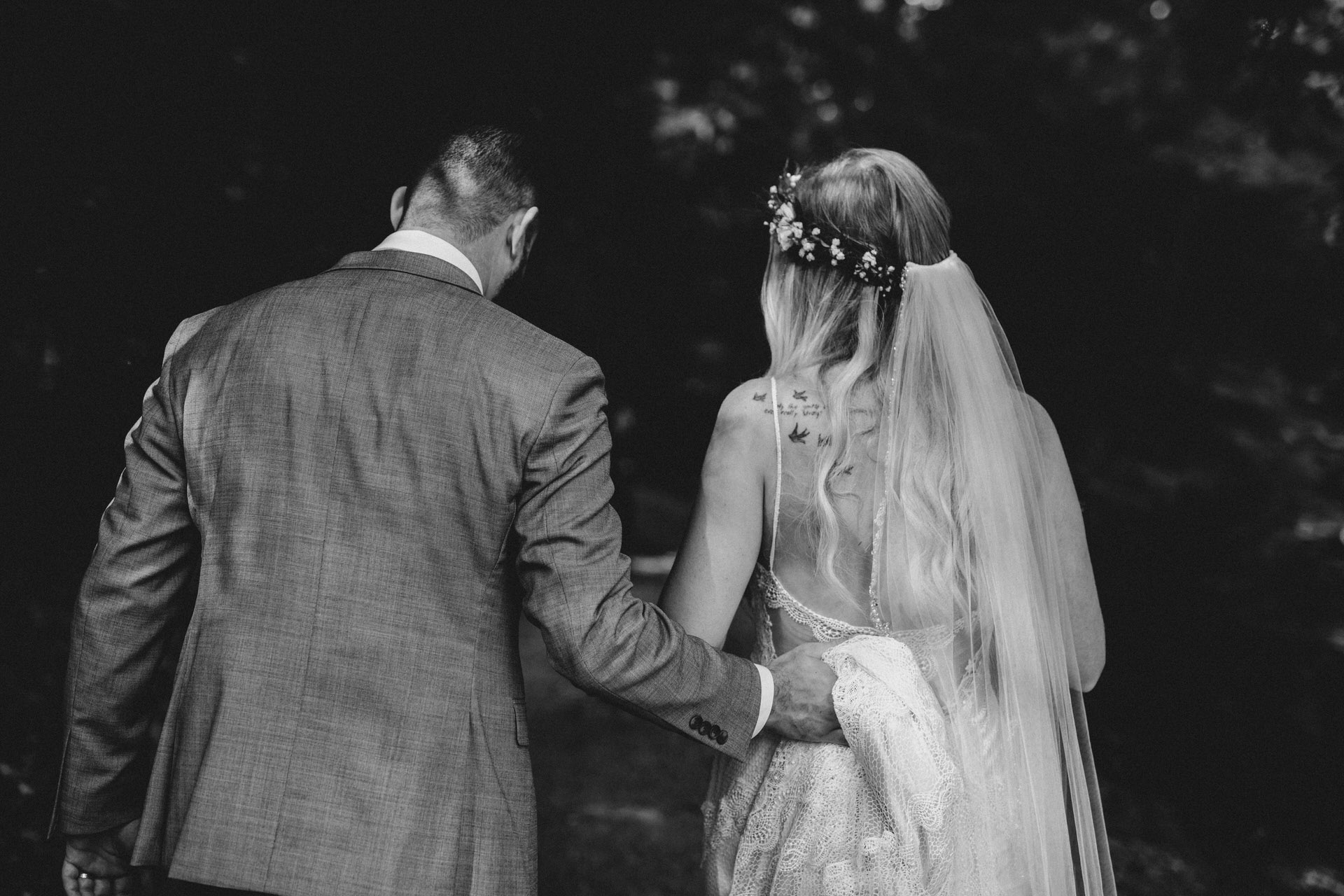 Muskoka Wedding - walking in the forest